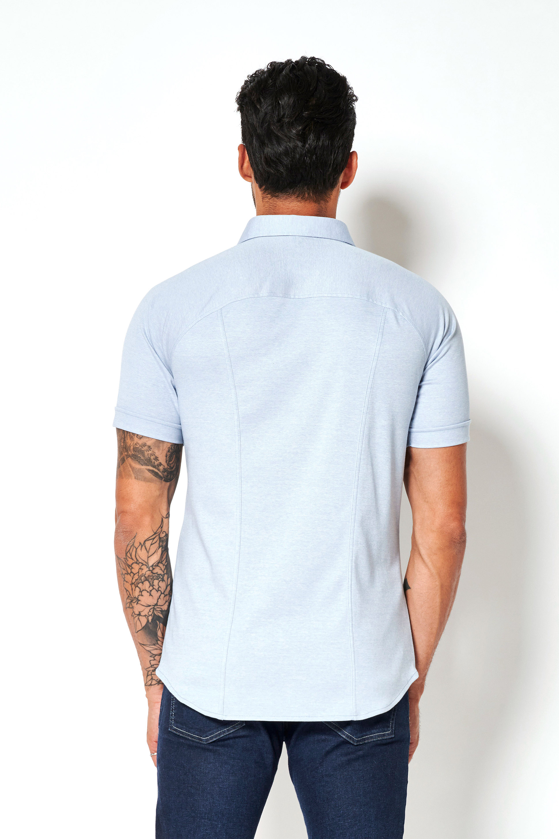 Desoto Modern SS Overhemd Lichtblauw 502