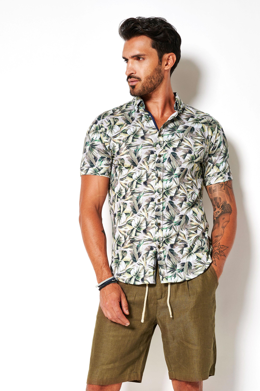 Desoto Overhemd Korte Mouw Bloemen 616