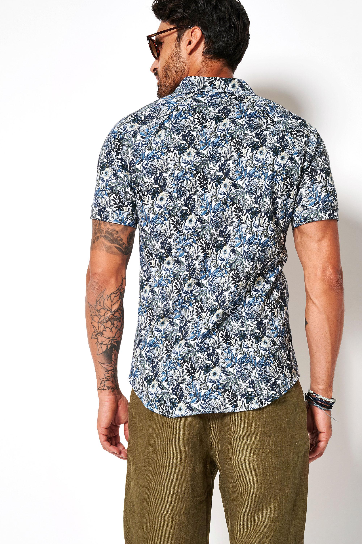 Desoto Overhemd Korte Mouw Bloemen 617