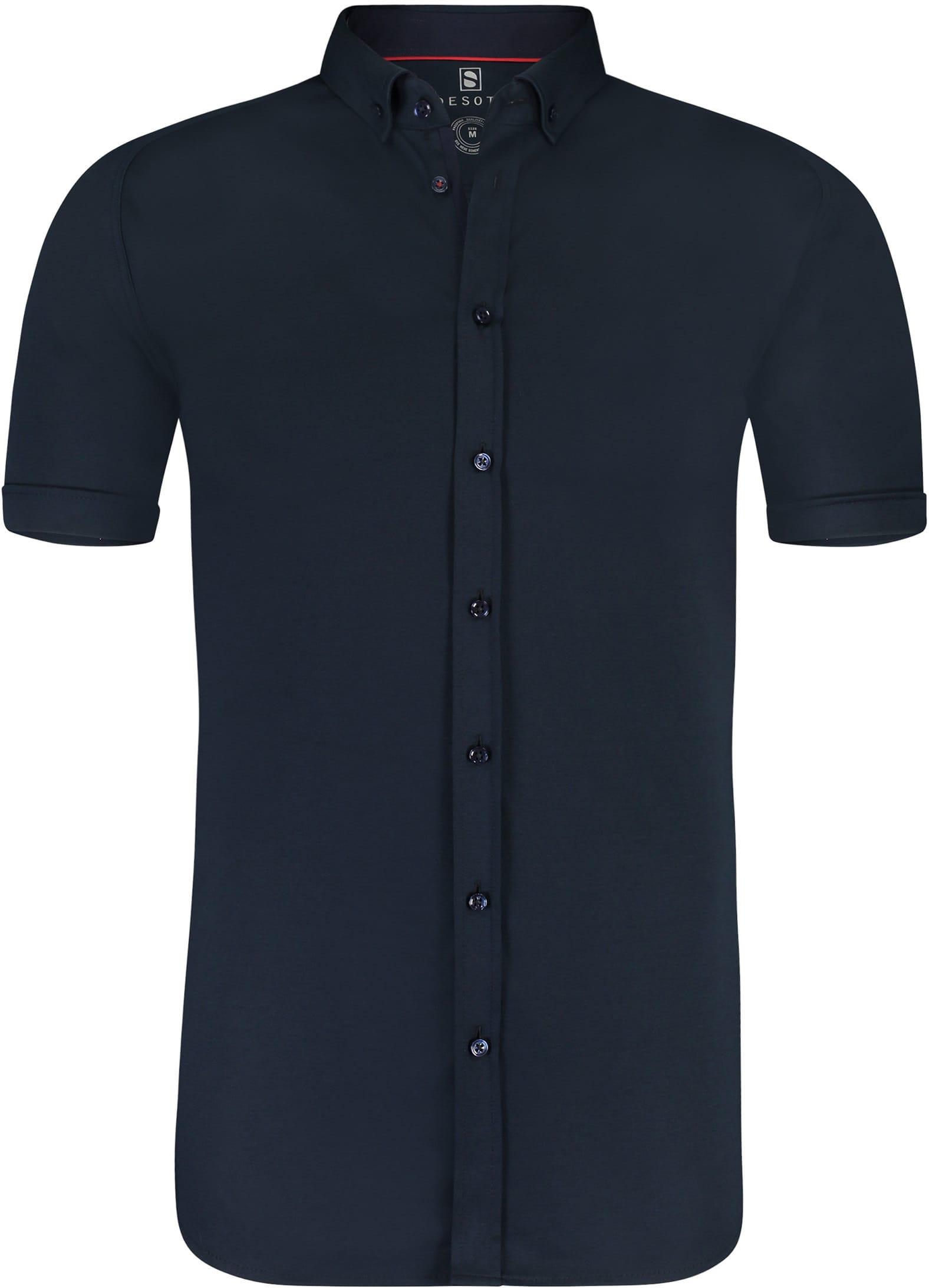 Desoto Overhemd Korte Mouw Navy foto 0