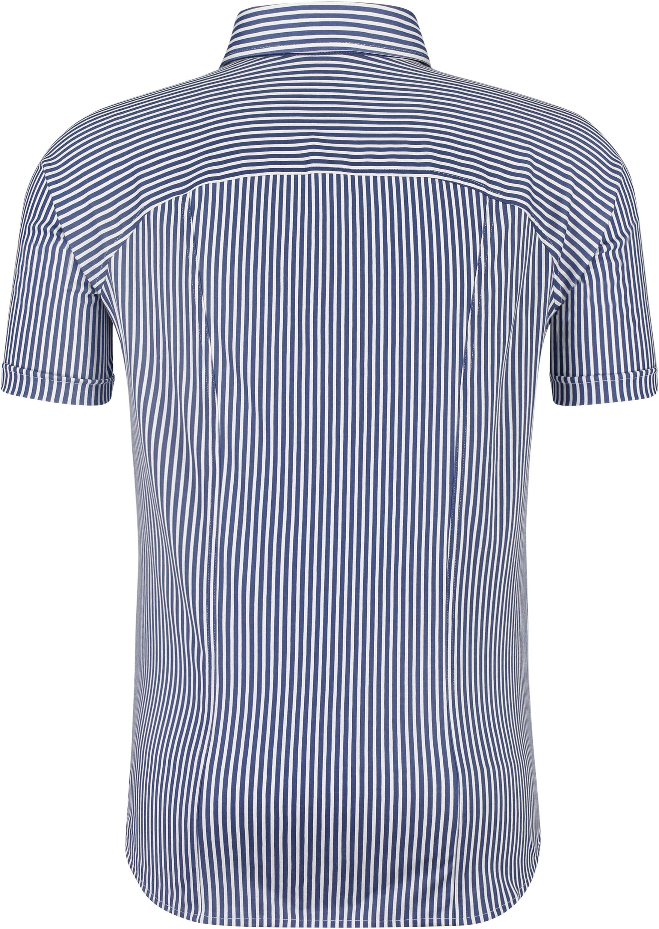 Desoto Overhemd Korte Mouw Streep Navy foto 1