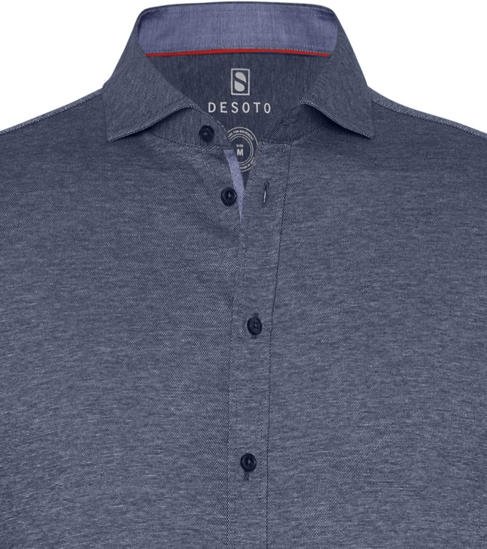 Desoto Overhemd Strijkvrij Blauw 501 foto 1