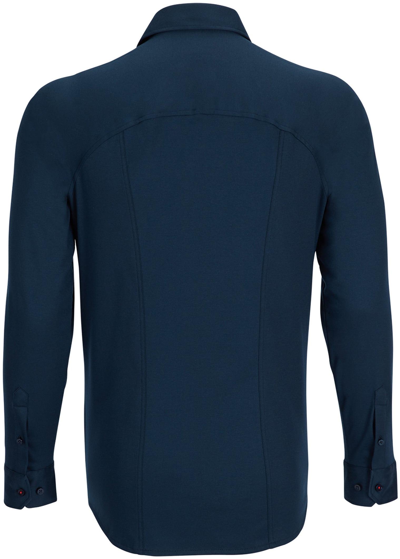 Desoto Overhemd Strijkvrij Donkerblauw foto 1