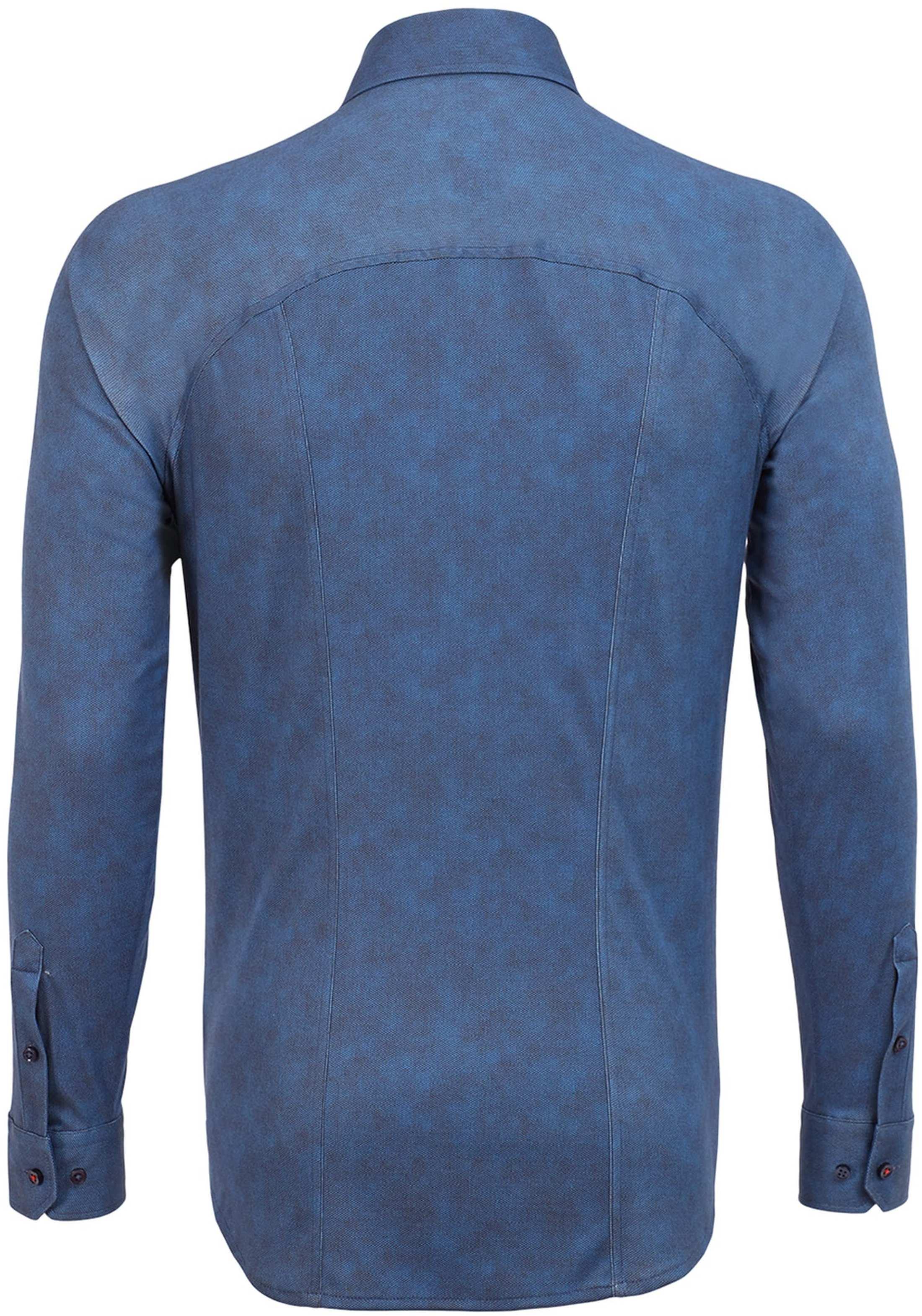 Desoto Overhemd Strijkvrij Donkerblauw Oxford foto 1