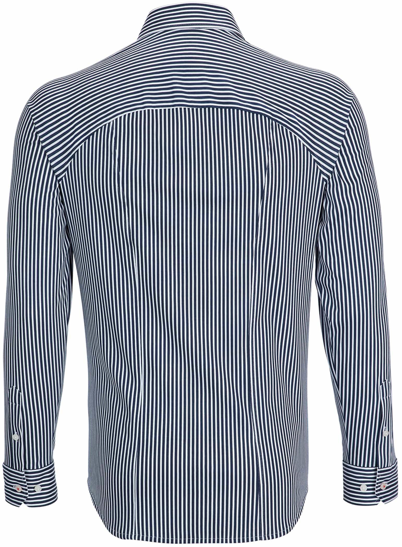 Desoto Overhemd Strijkvrij Donkerblauw Streep foto 1