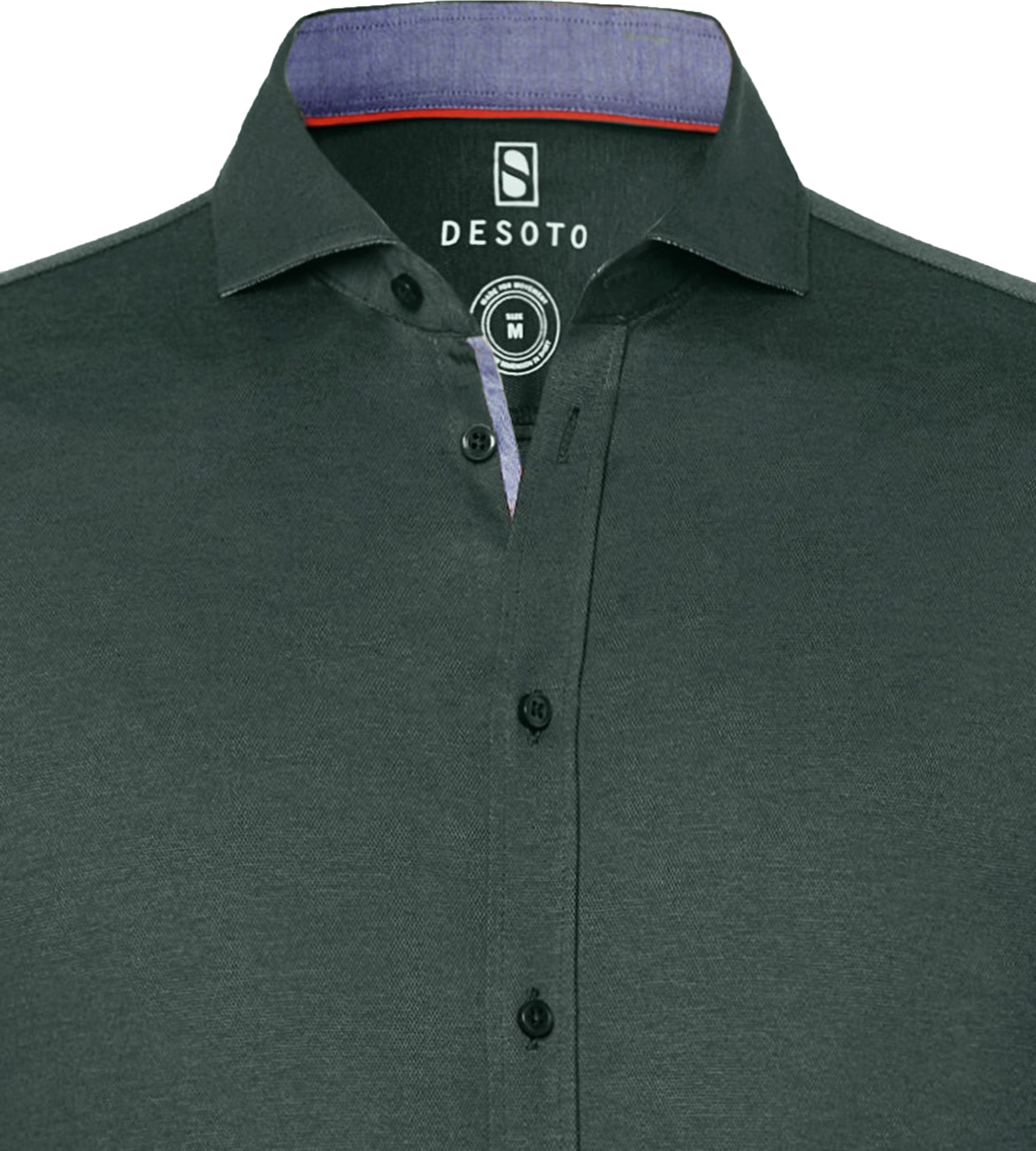 Desoto Overhemd Strijkvrij Donkergroen 602 foto 1