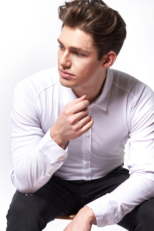 Desoto Overhemd Strijkvrij Modern Wit