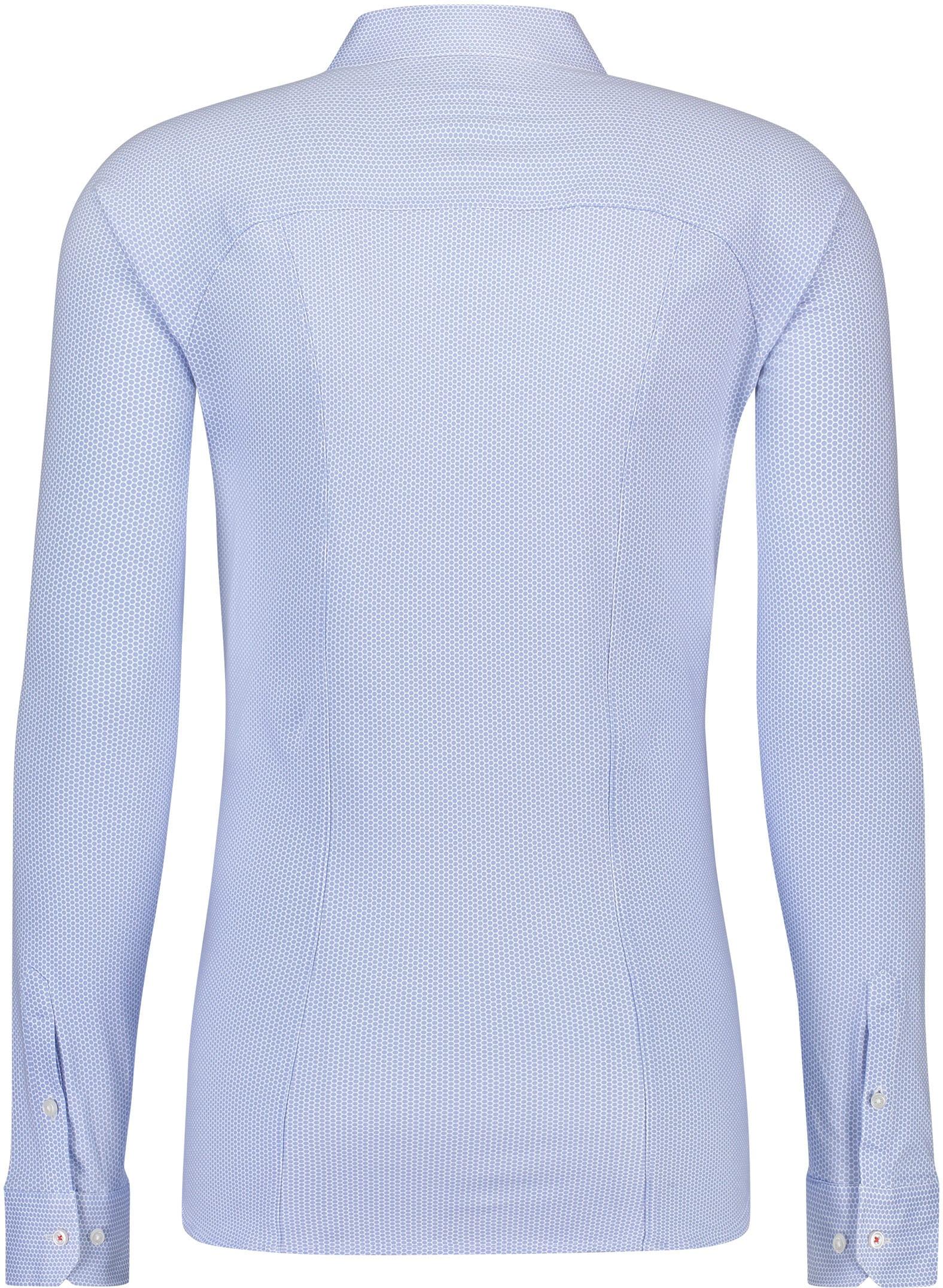 Desoto Overhemd Strijkvrij Stippen Blauw foto 1