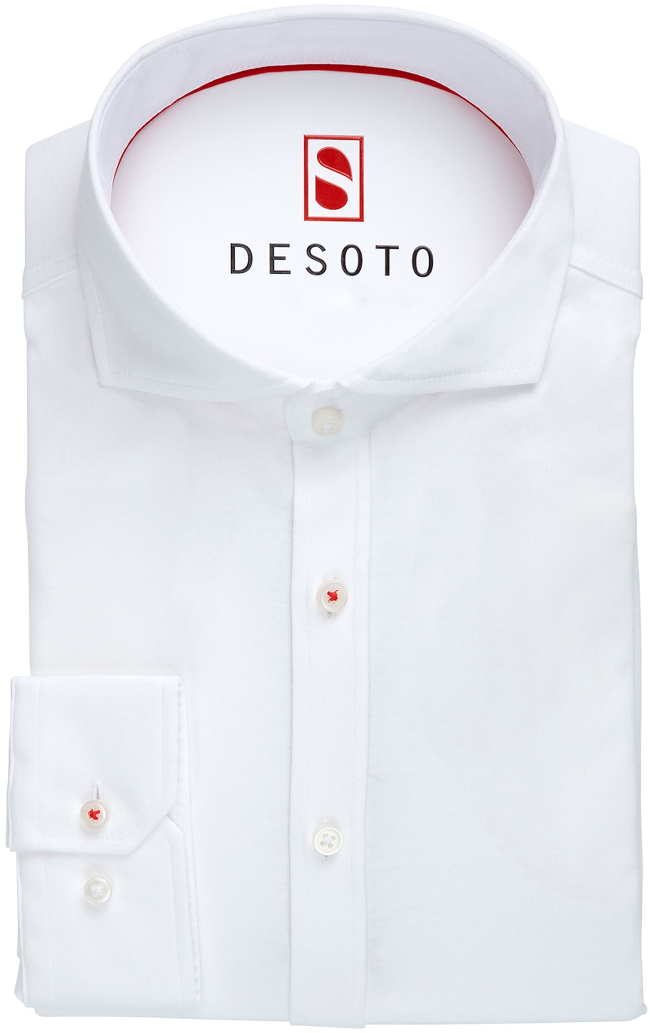Desoto Overhemd Strijkvrij Wit foto 2