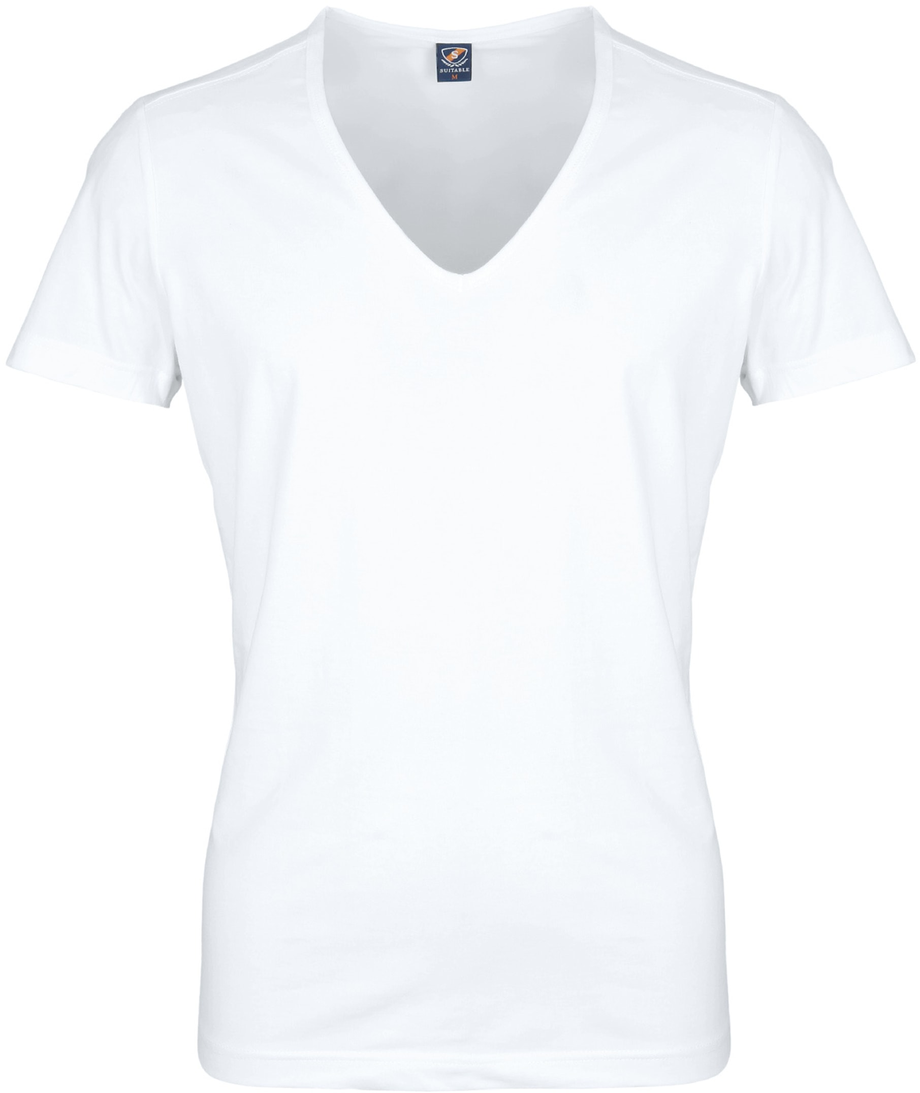 Diepe V hals 4-Pack Stretch T-Shirt foto 1