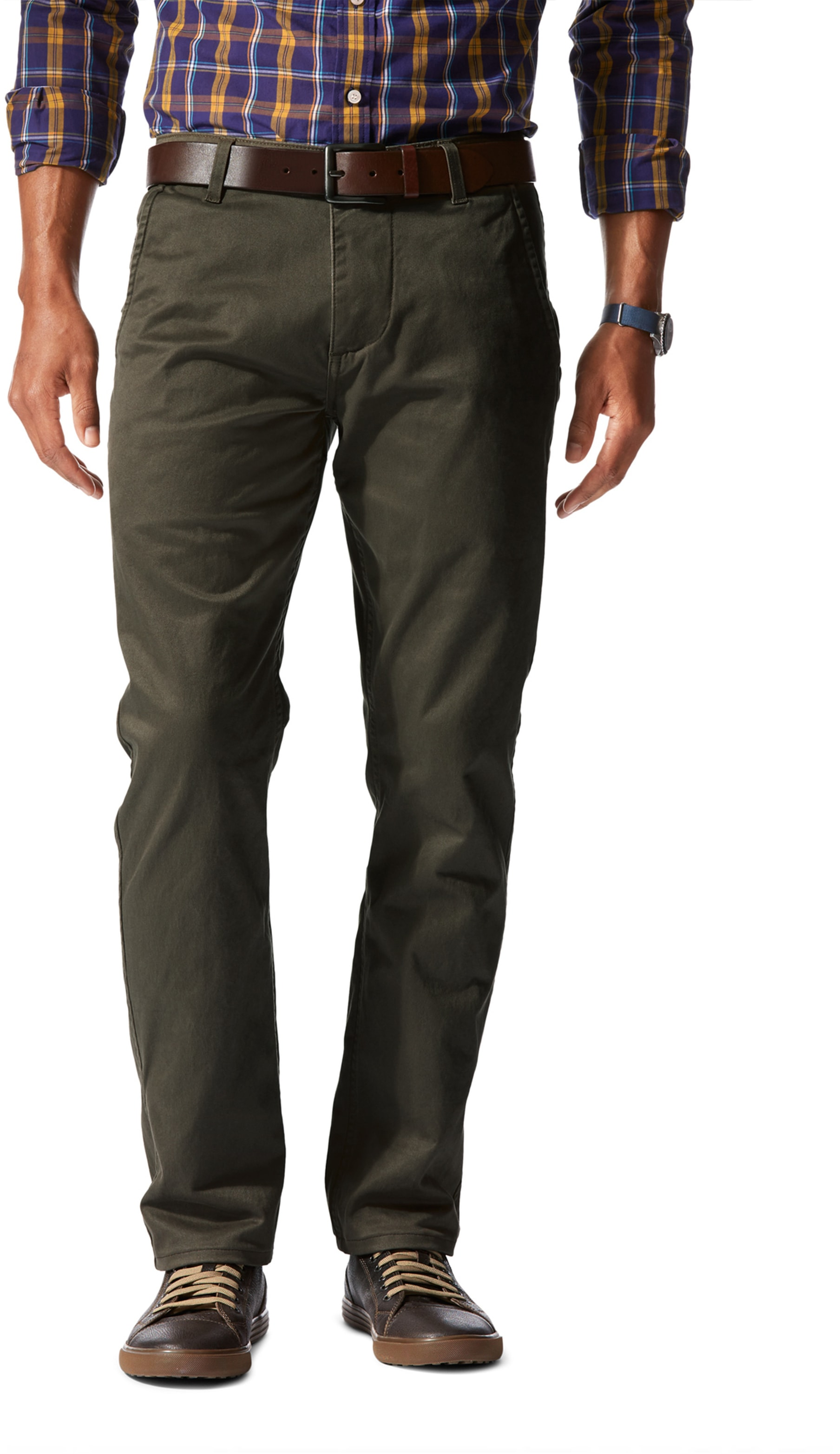 Dockers Alpha Slim Stretch Olive foto 0