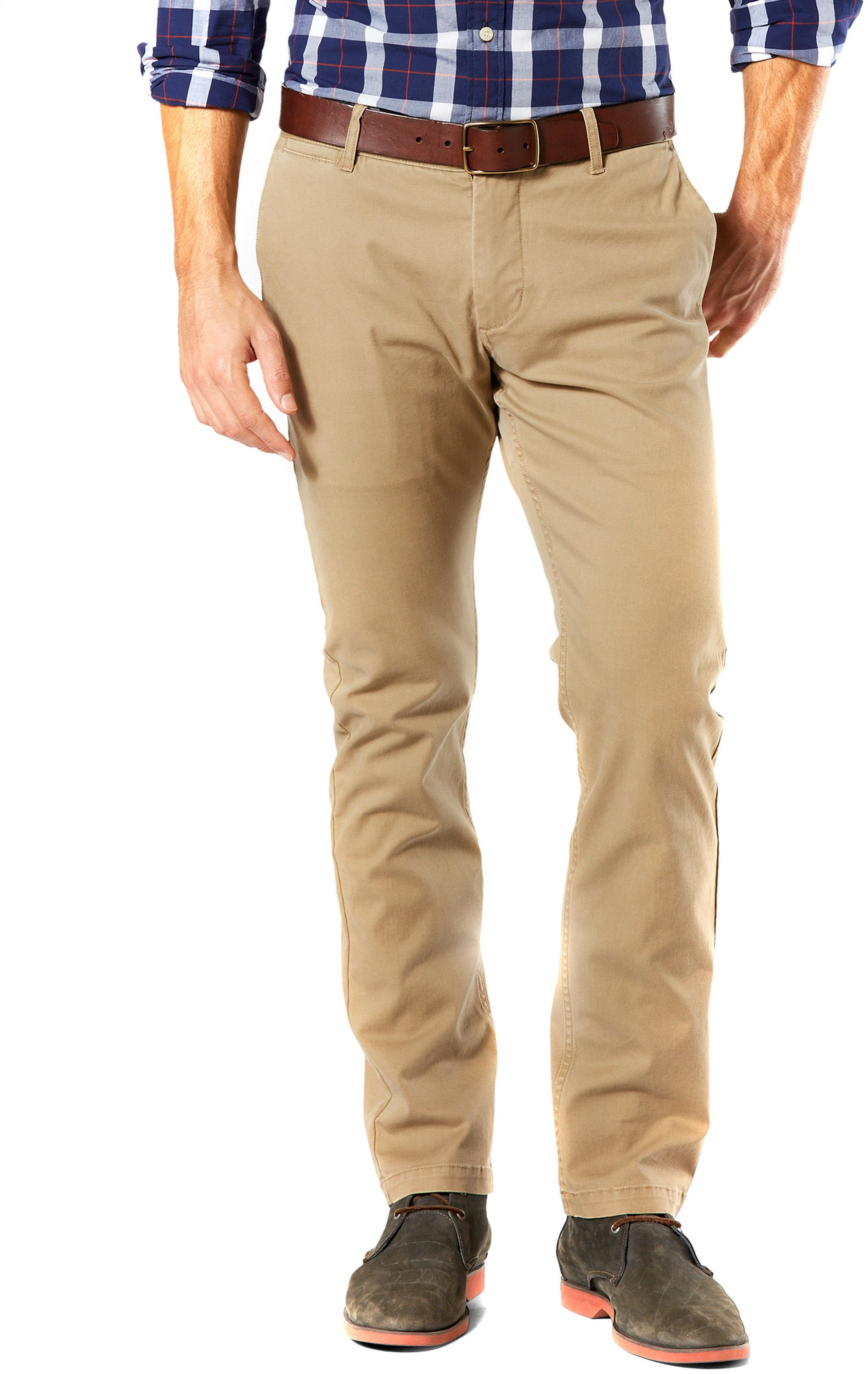 Dockers Pacific Washed Slim Tapered Broek Khaki foto 0
