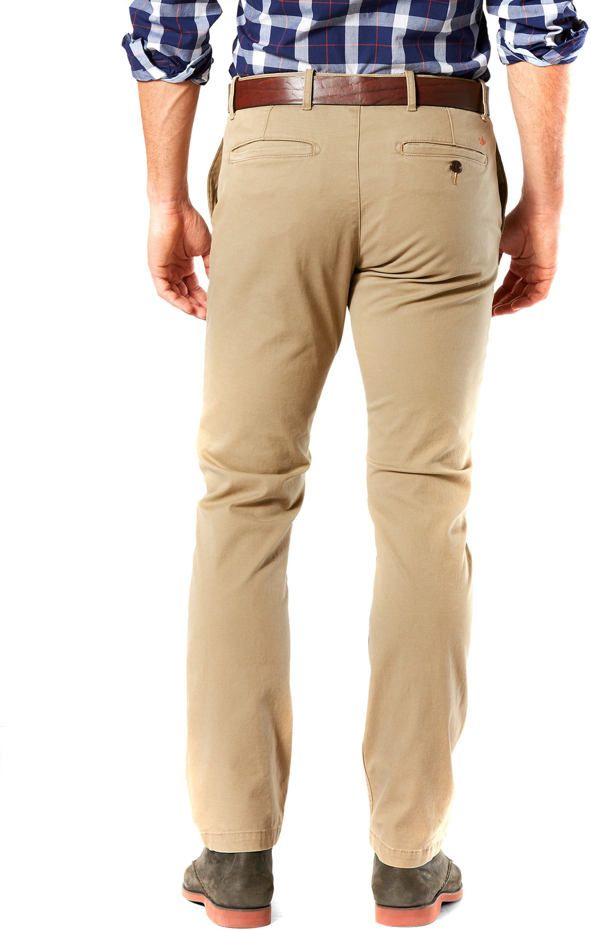 Dockers Pacific Washed Slim Tapered Broek Khaki foto 1