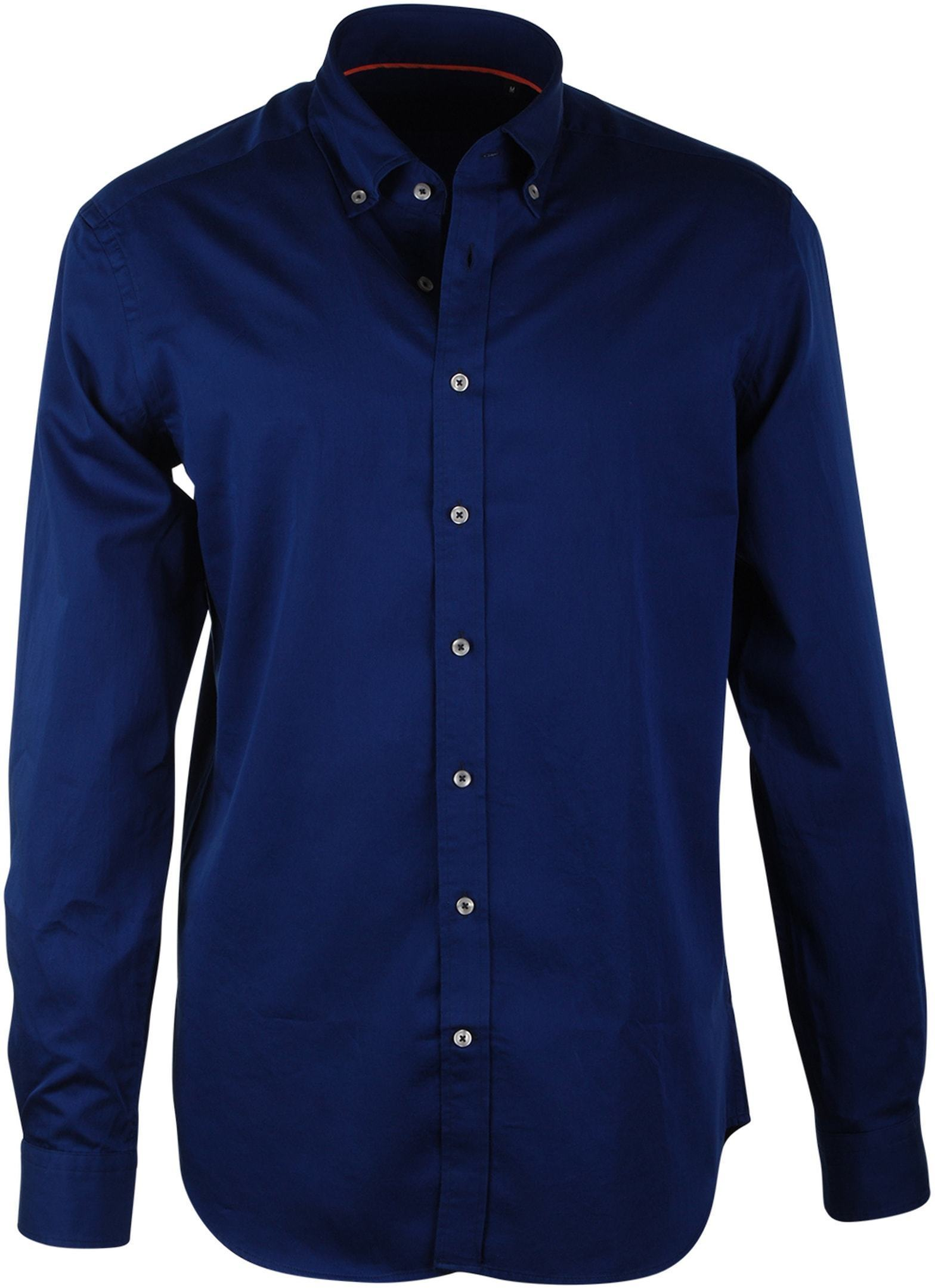 Donkerblauw Casual Hemd Suitable
