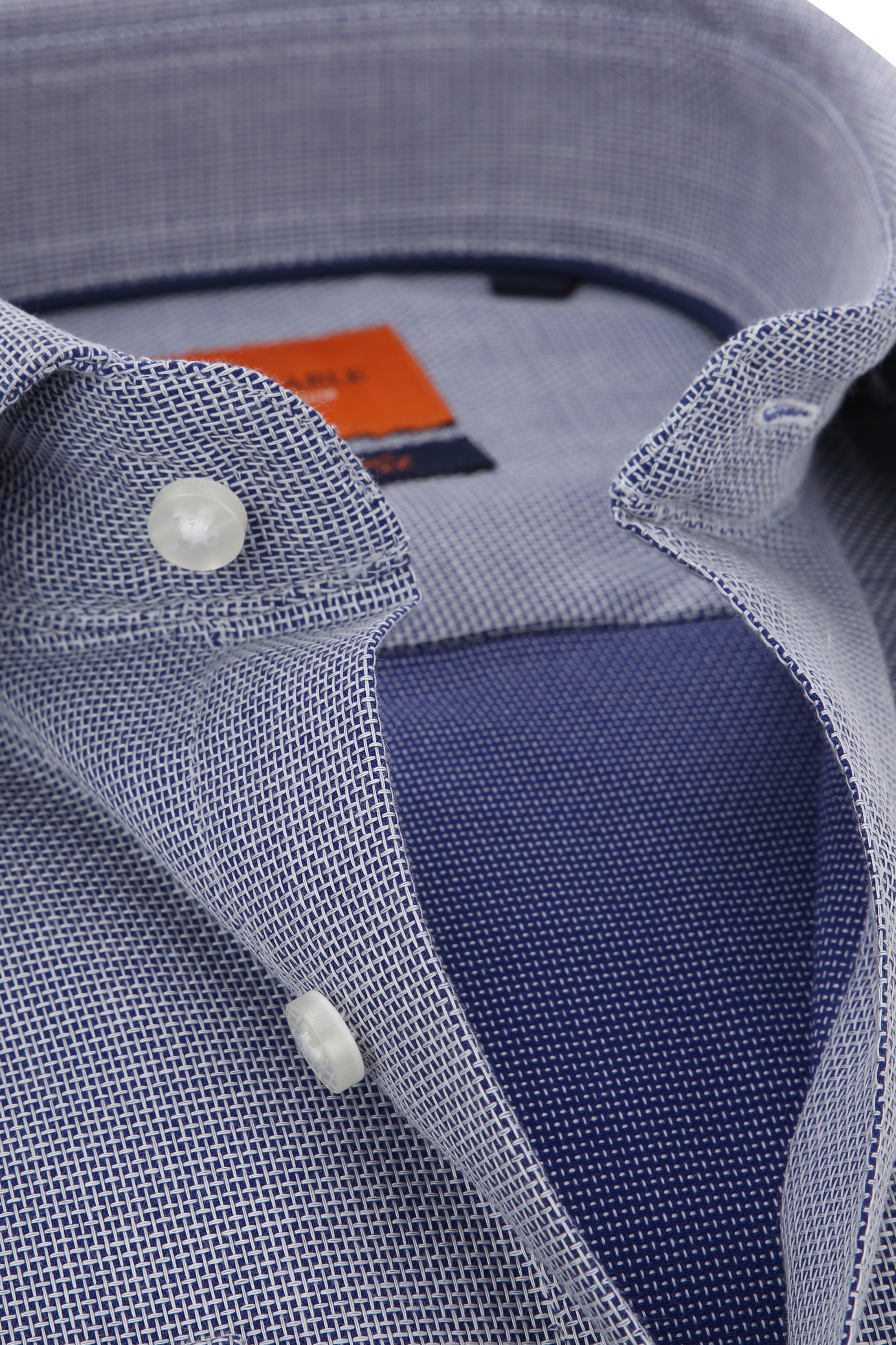 Doppel Cuff Hemd Blau Kariert 52-22 foto 1