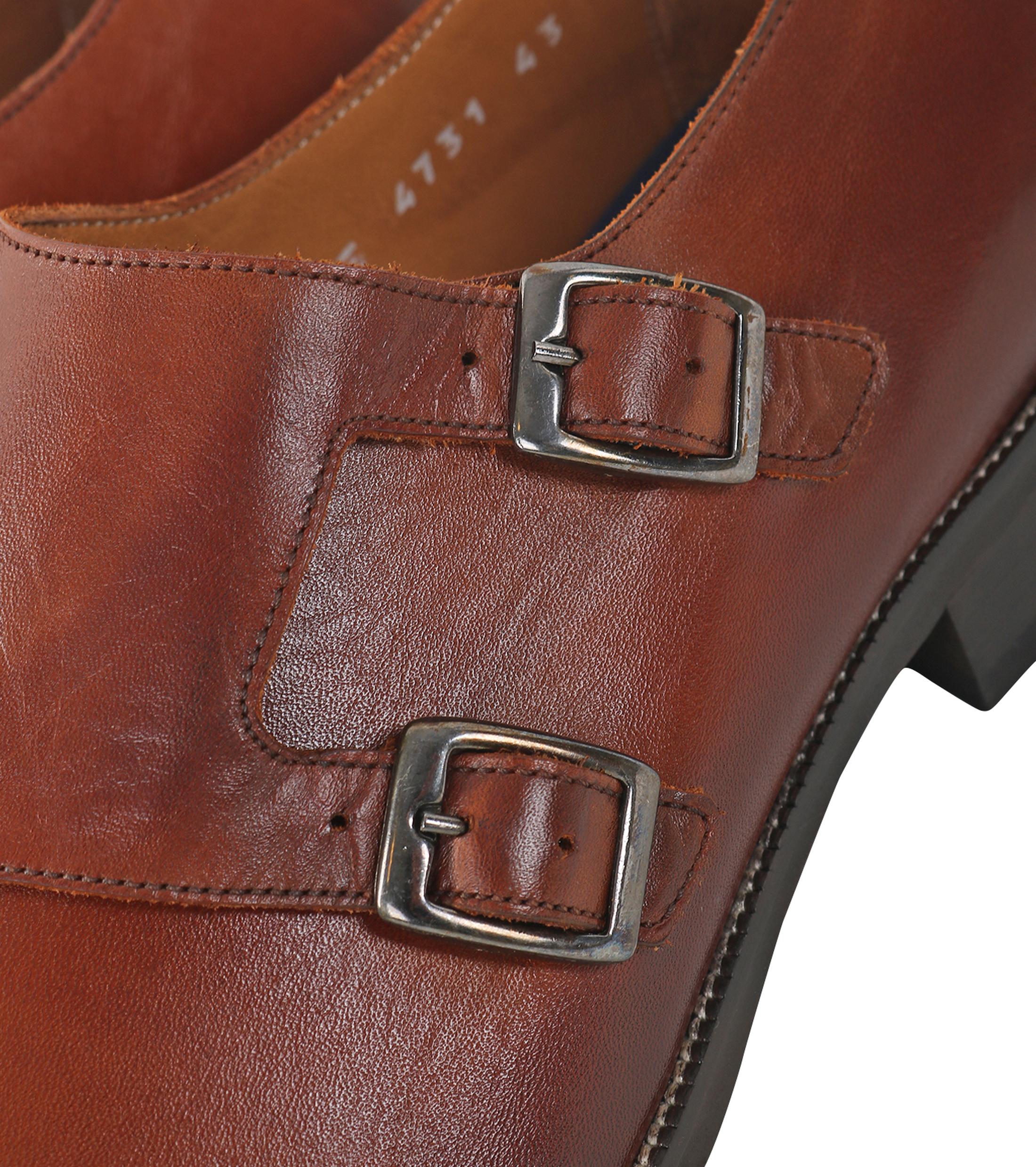 Double Monk Strap Leather Cognac foto 1