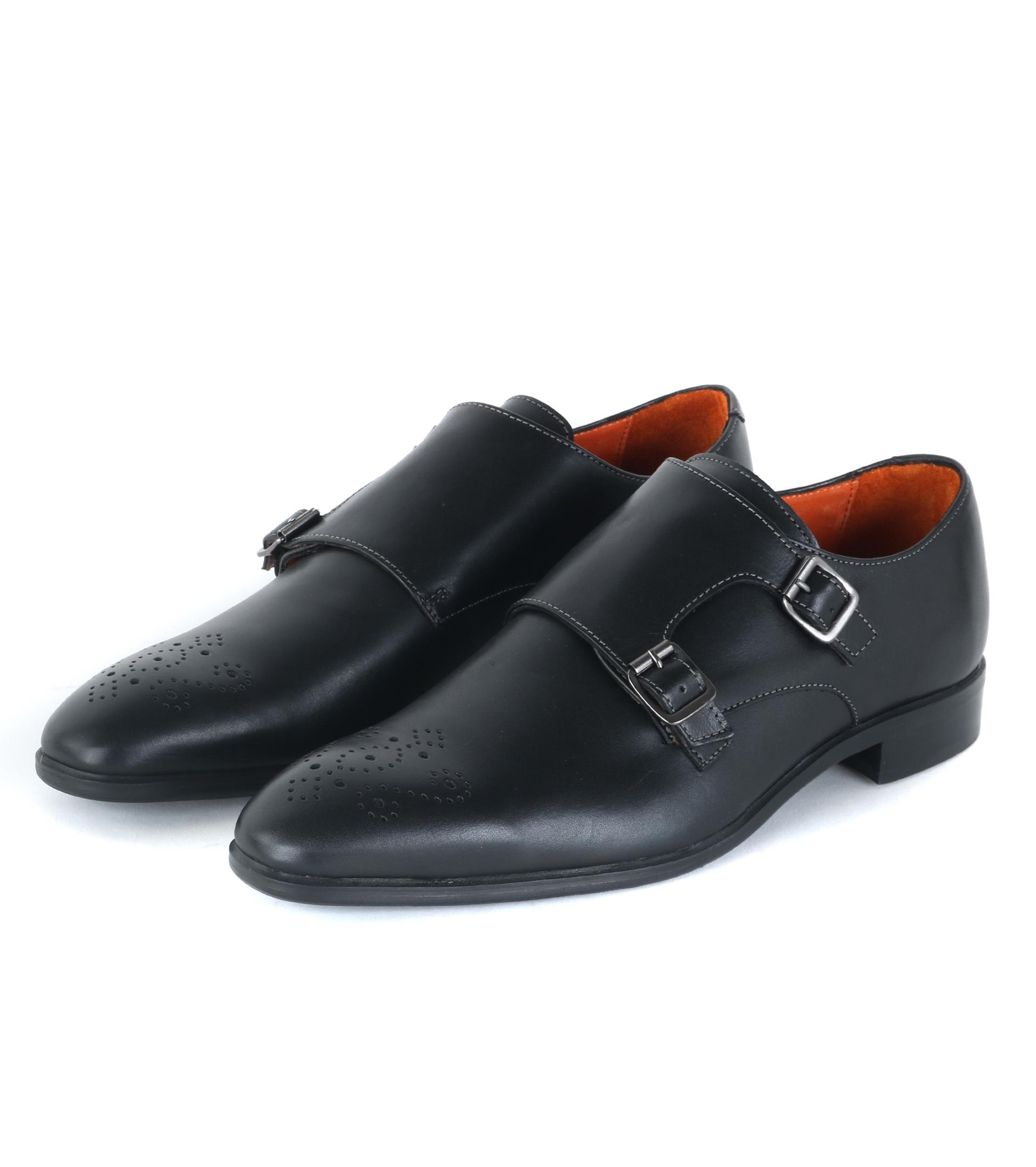 Chaussures Noires Avec Des Boucles Pour Les Hommes zav14r2tTr