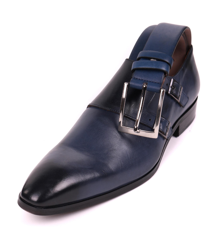 Convient Escalier Double Moine Noir Chaussures Hommes MftYxW