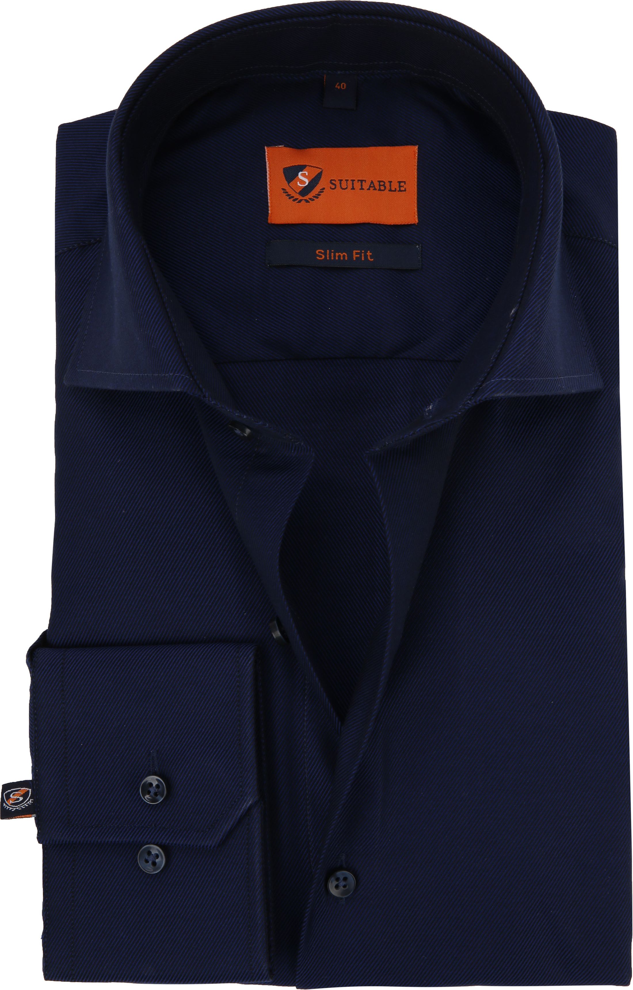 Dress Slim Fit Navy Night Twill foto 0