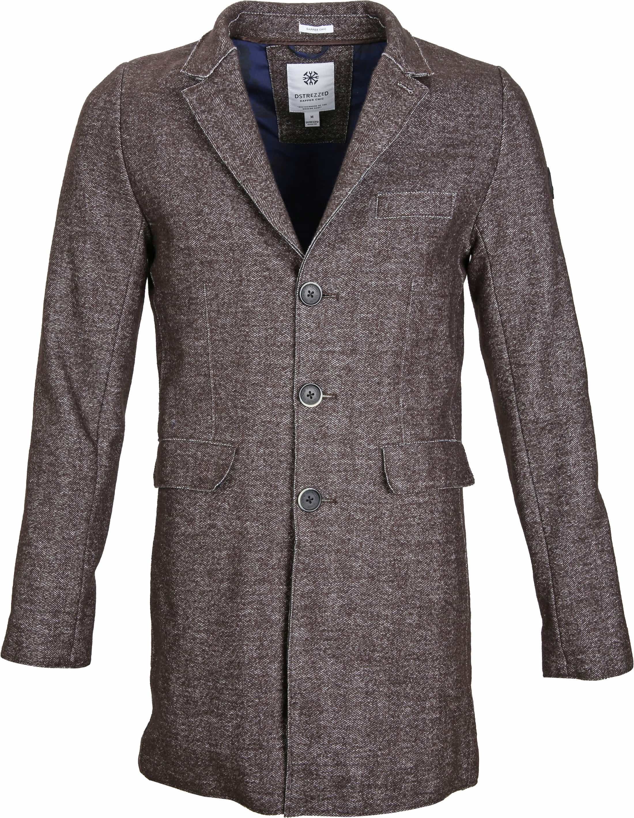 Dstrezzed Coat Boucle Brown Melange foto 0