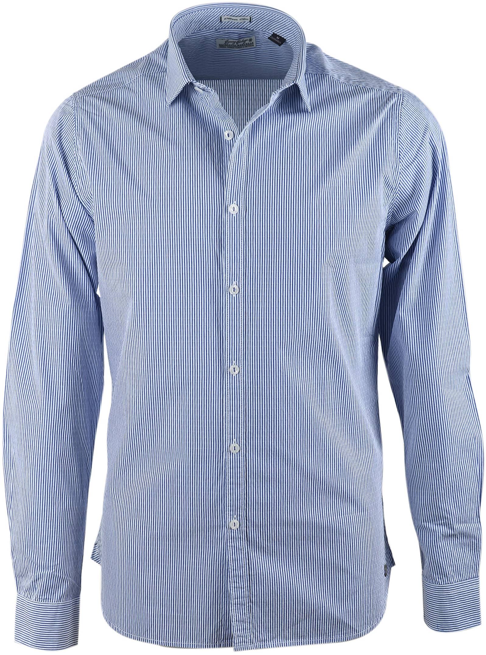 Dstrezzed Hemd Blau Streifen Foto 0