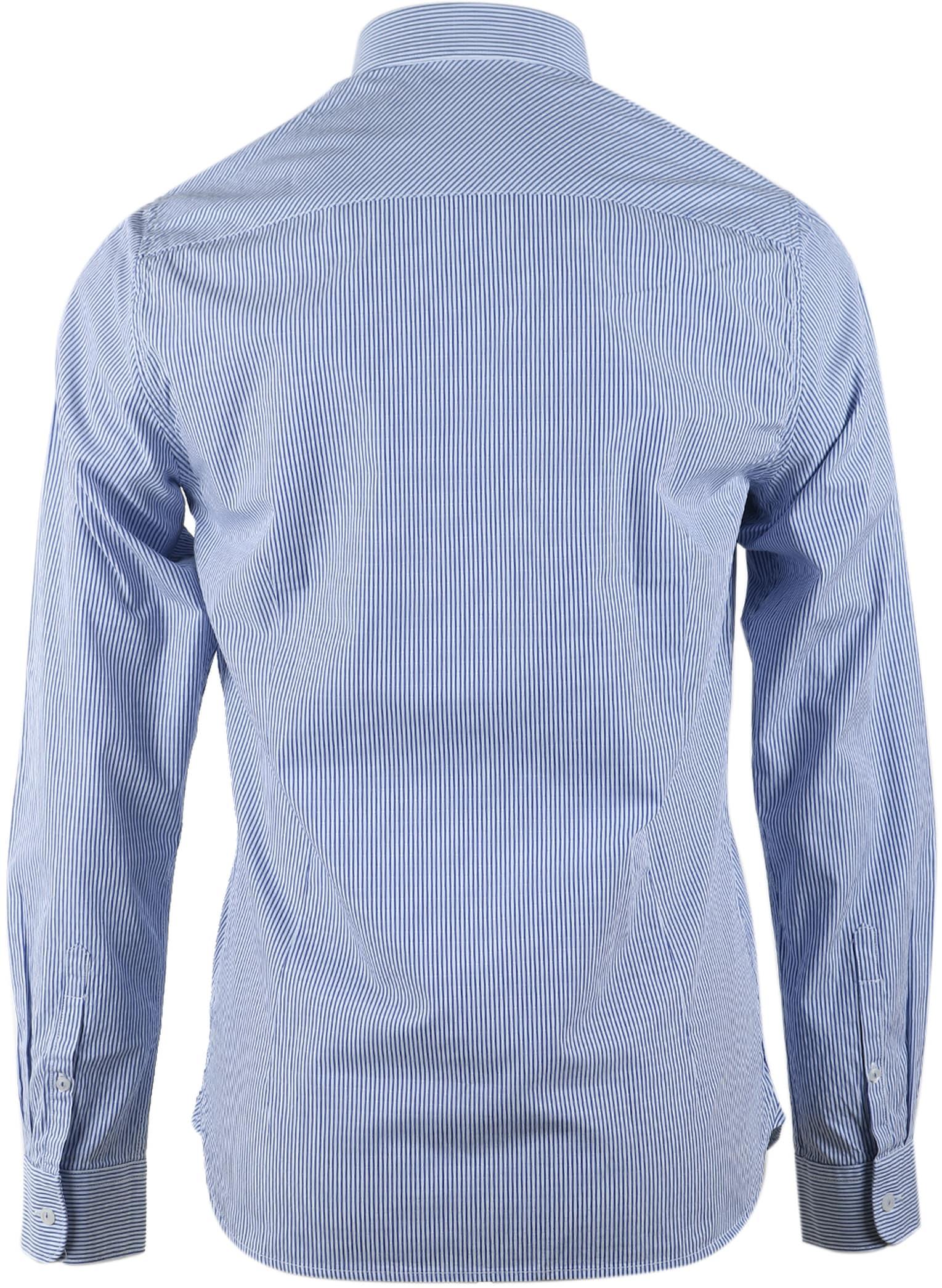 Dstrezzed Hemd Blau Streifen Foto 1