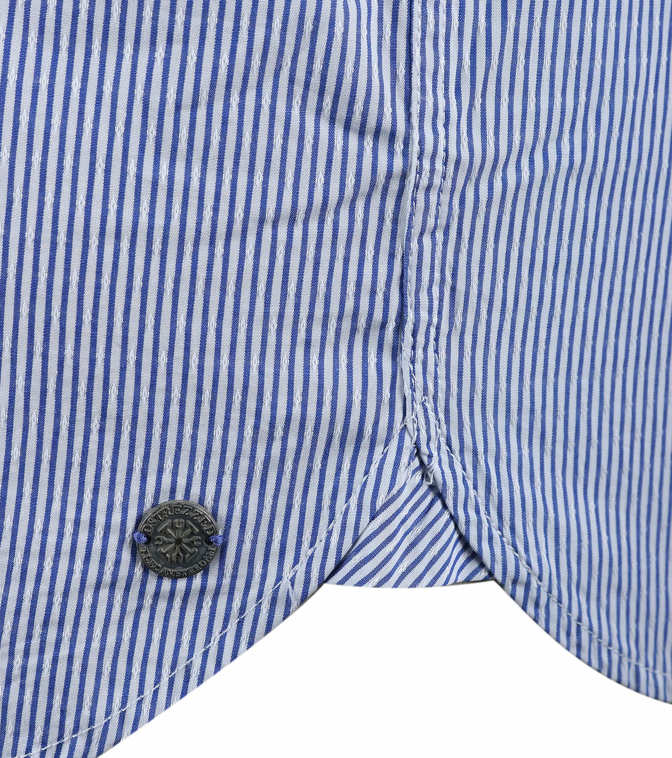Dstrezzed Hemd Blau Streifen Foto 2