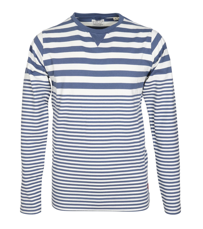 Dstrezzed Longsleeve T-shirt Blau Streifen foto 0