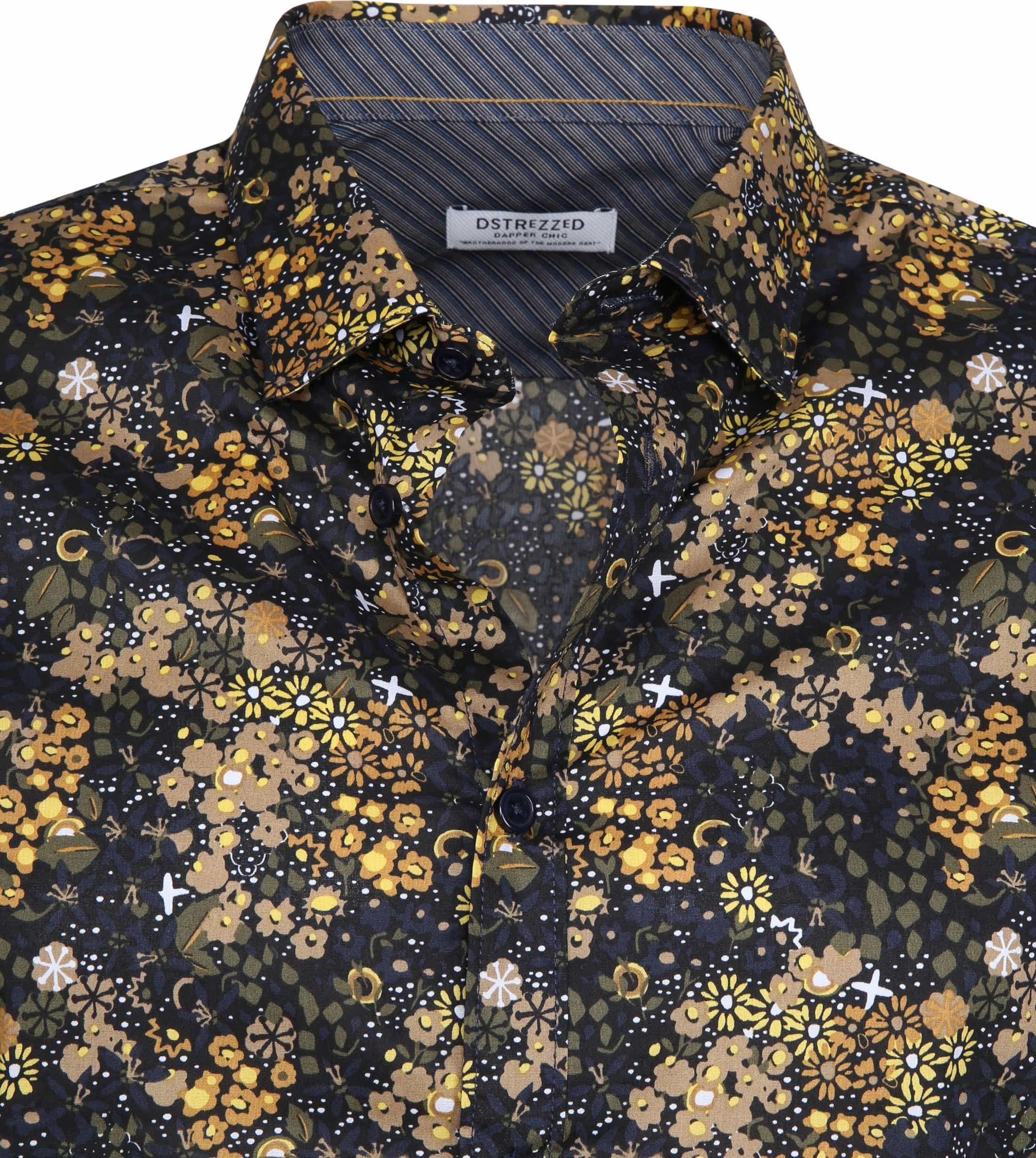 Dstrezzed Overhemd Bloemen Geel foto 1