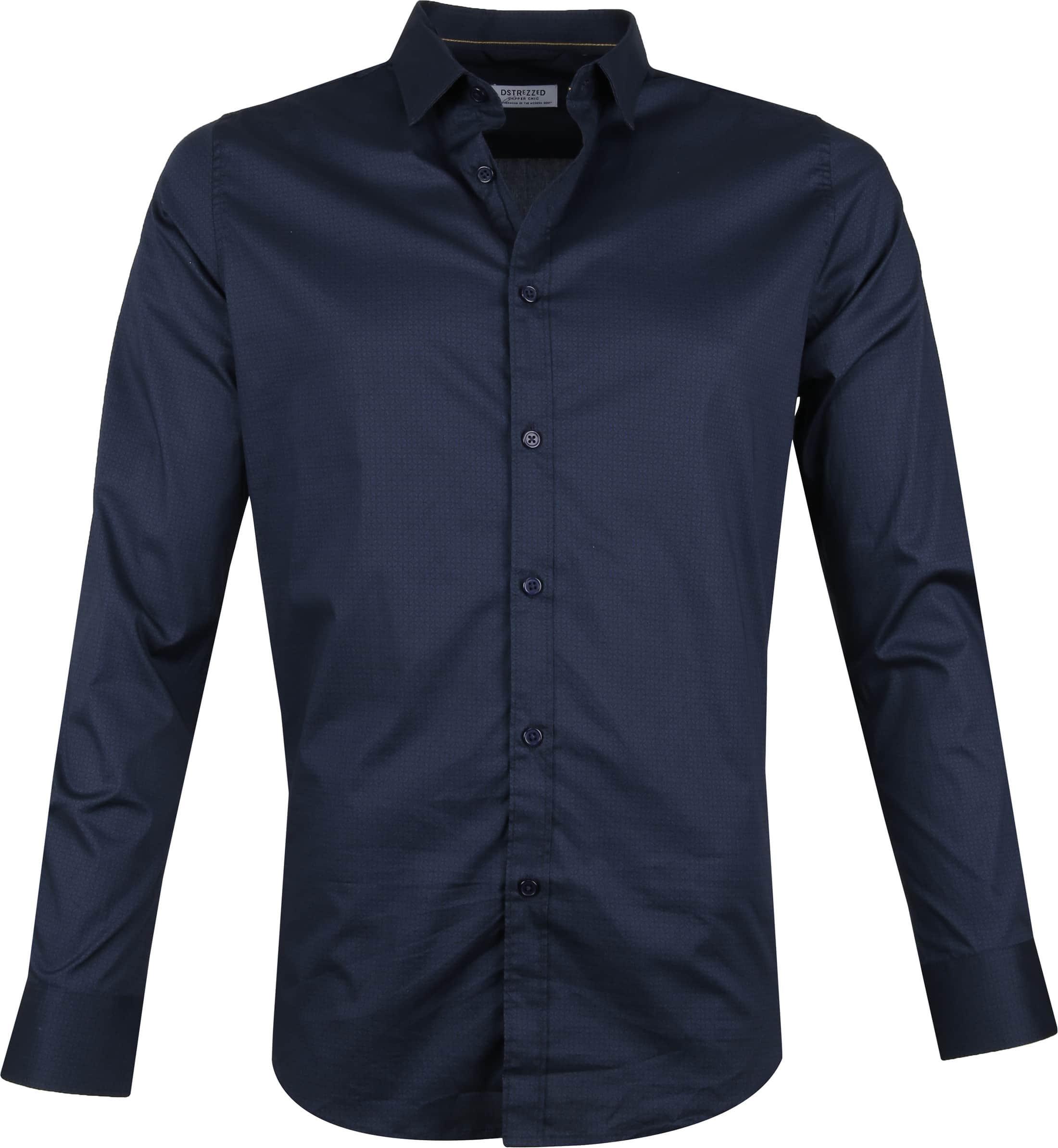 Dstrezzed Overhemd Dessin Navy foto 0