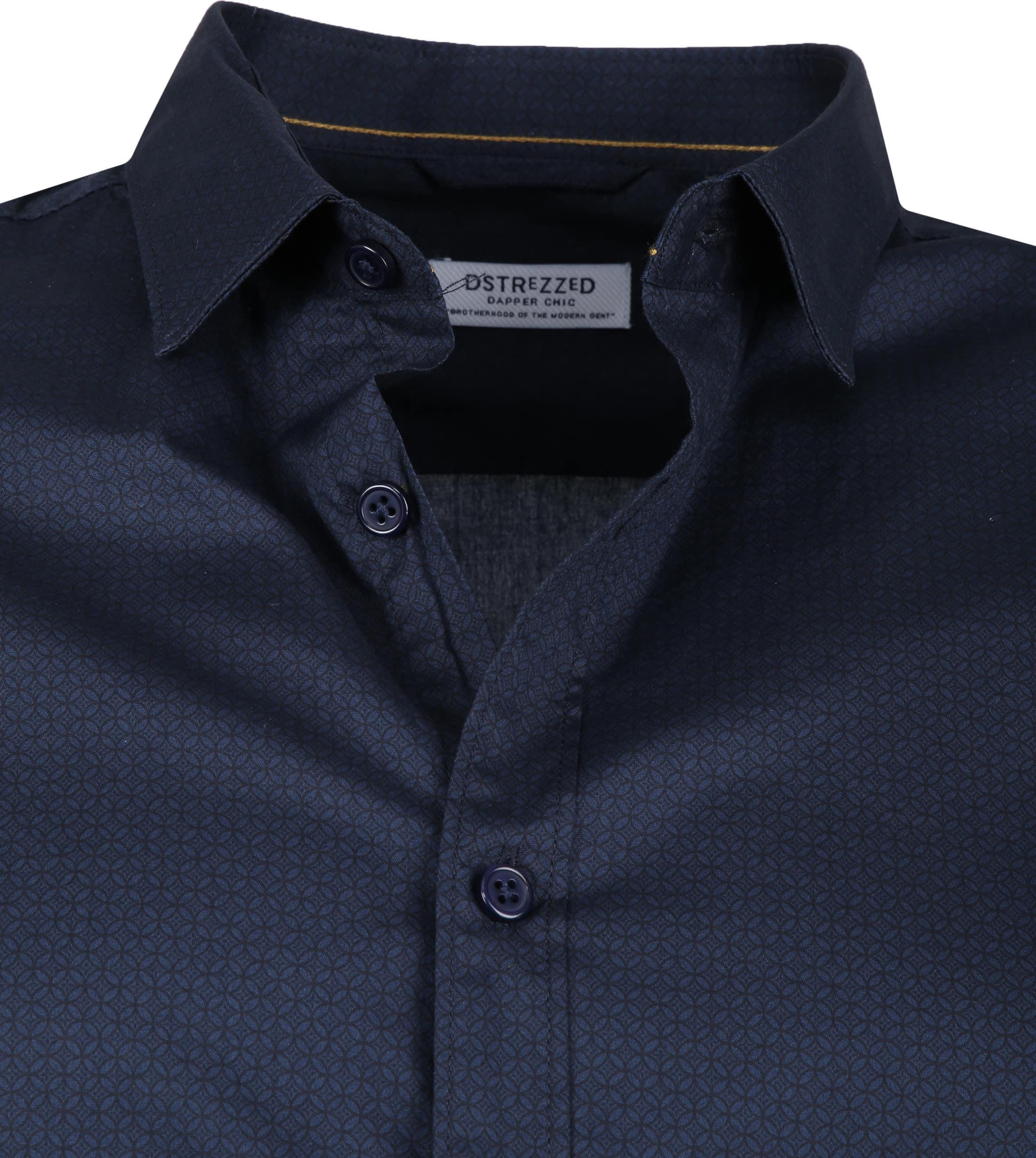 Dstrezzed Overhemd Dessin Navy foto 1