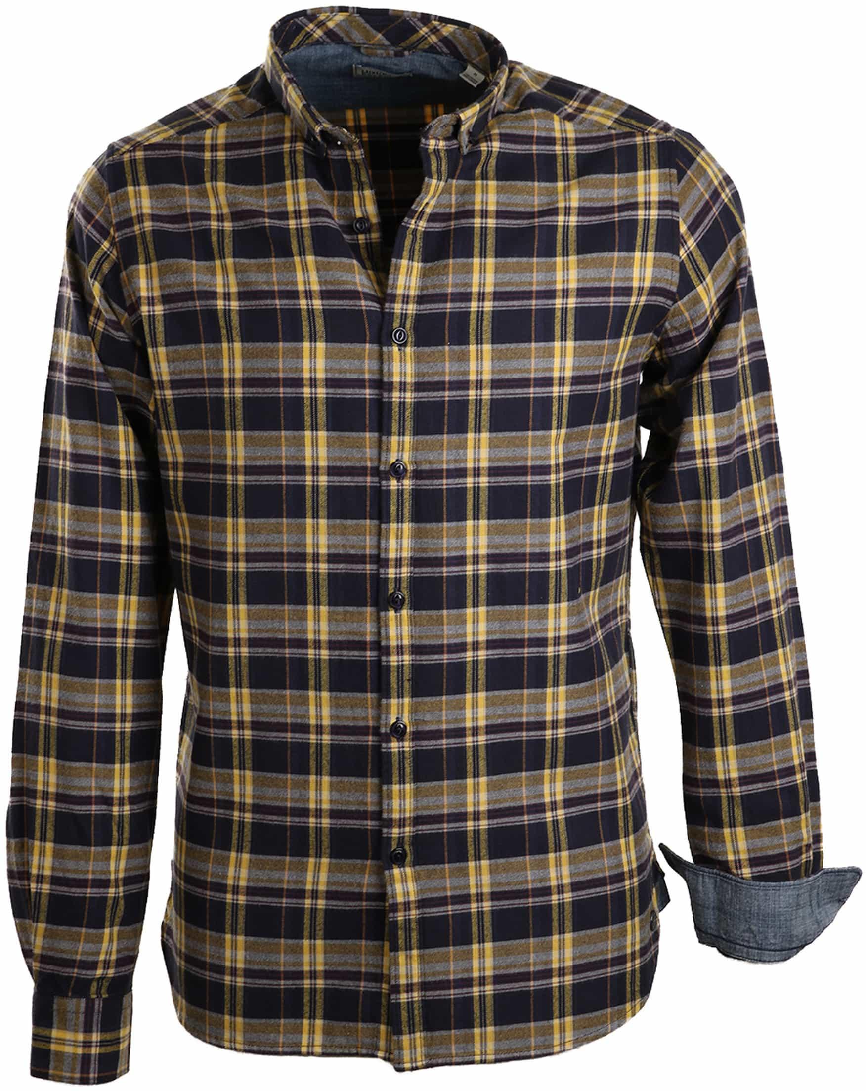 Geel Overhemd.Dstrezzed Overhemd Navy Geel Ruit 303113 31 Online Bestellen Suitable