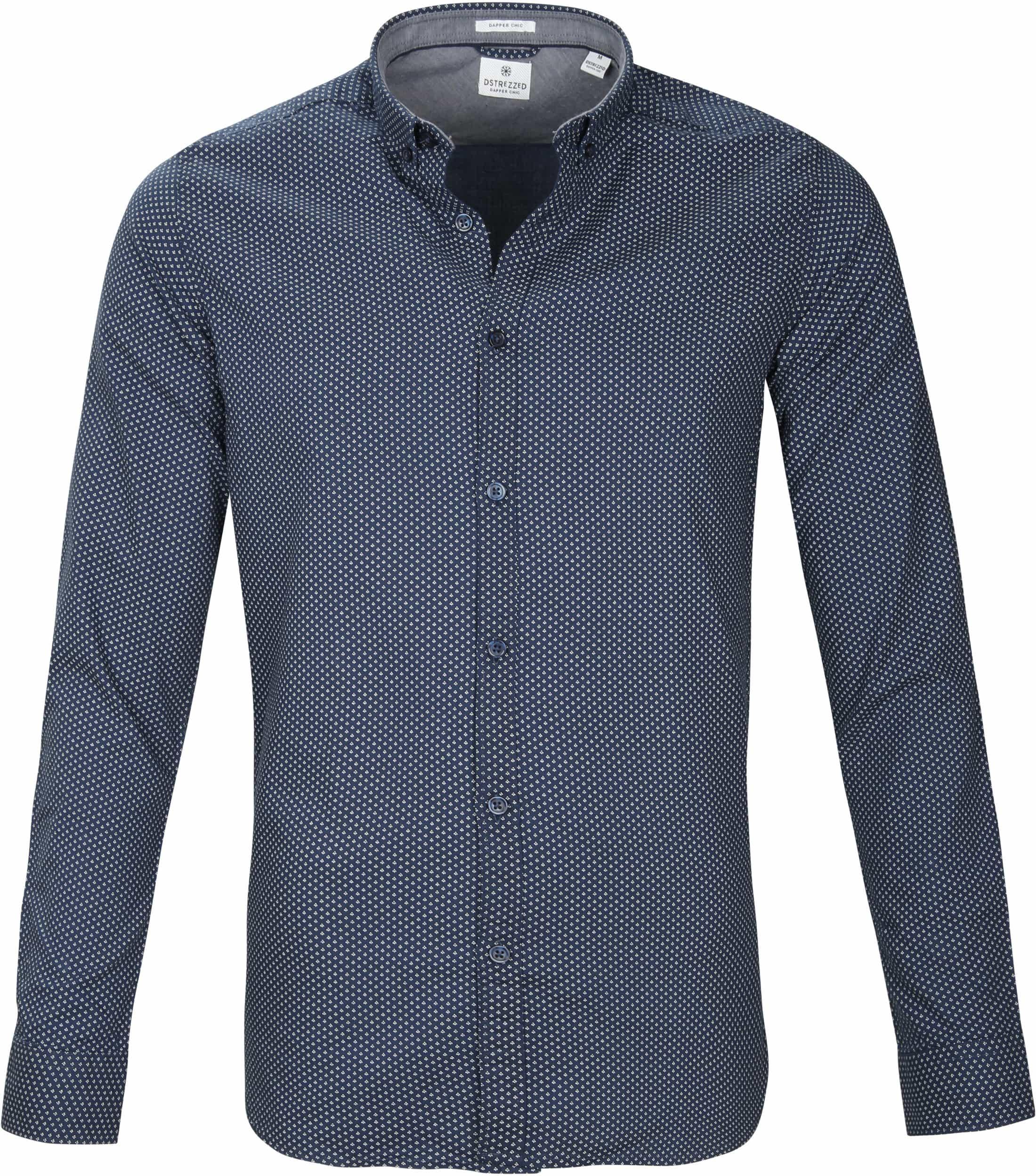 Dstrezzed Overhemd Navy Patroon foto 0