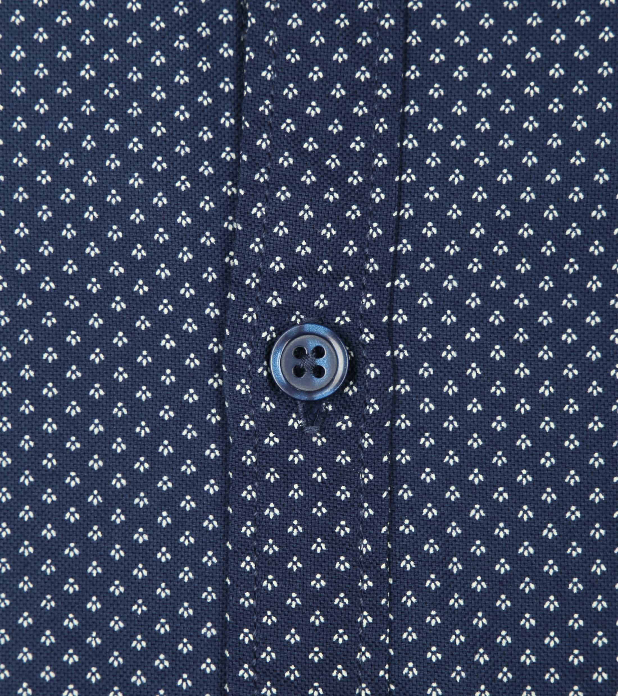 Dstrezzed Overhemd Navy Patroon foto 1