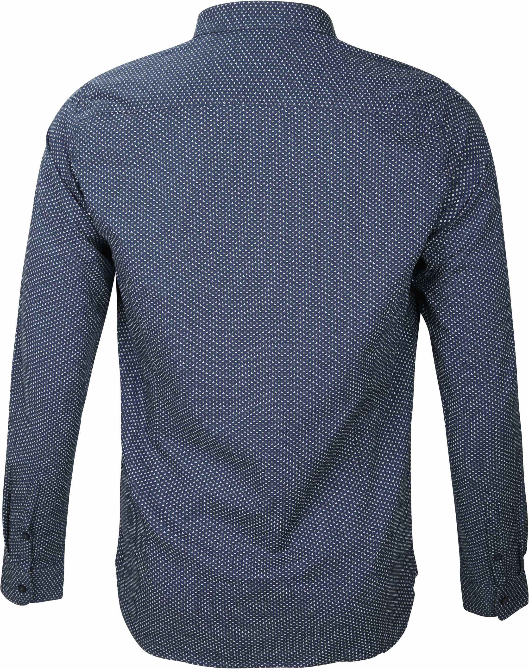 Dstrezzed Overhemd Navy Patroon foto 2