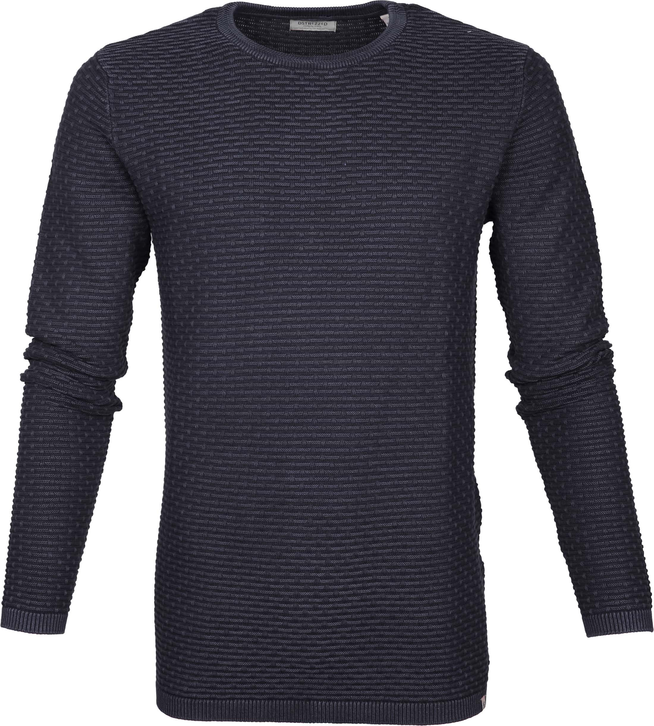 Dstrezzed Pullover Structure Navy foto 0
