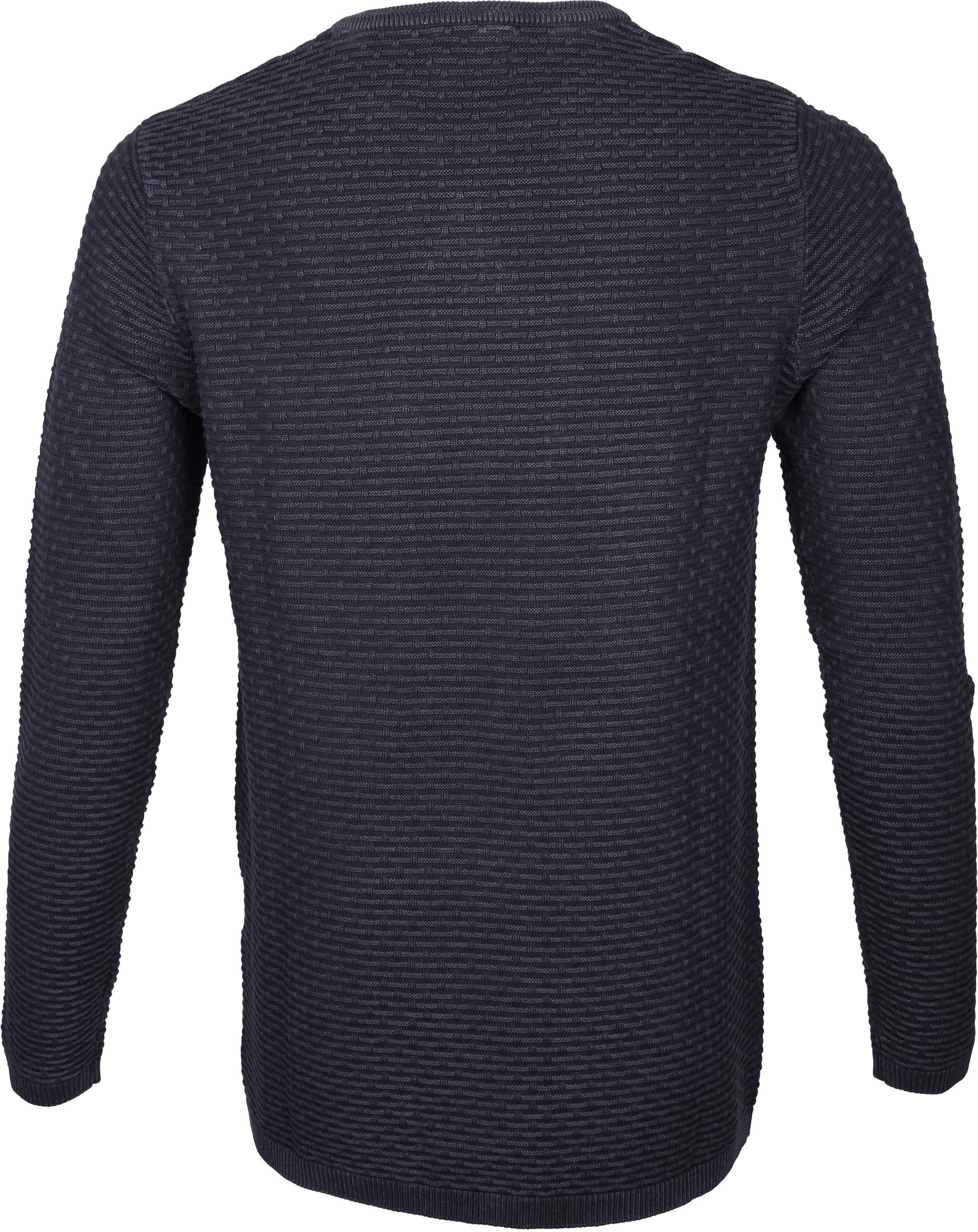 Dstrezzed Pullover Structure Navy foto 4