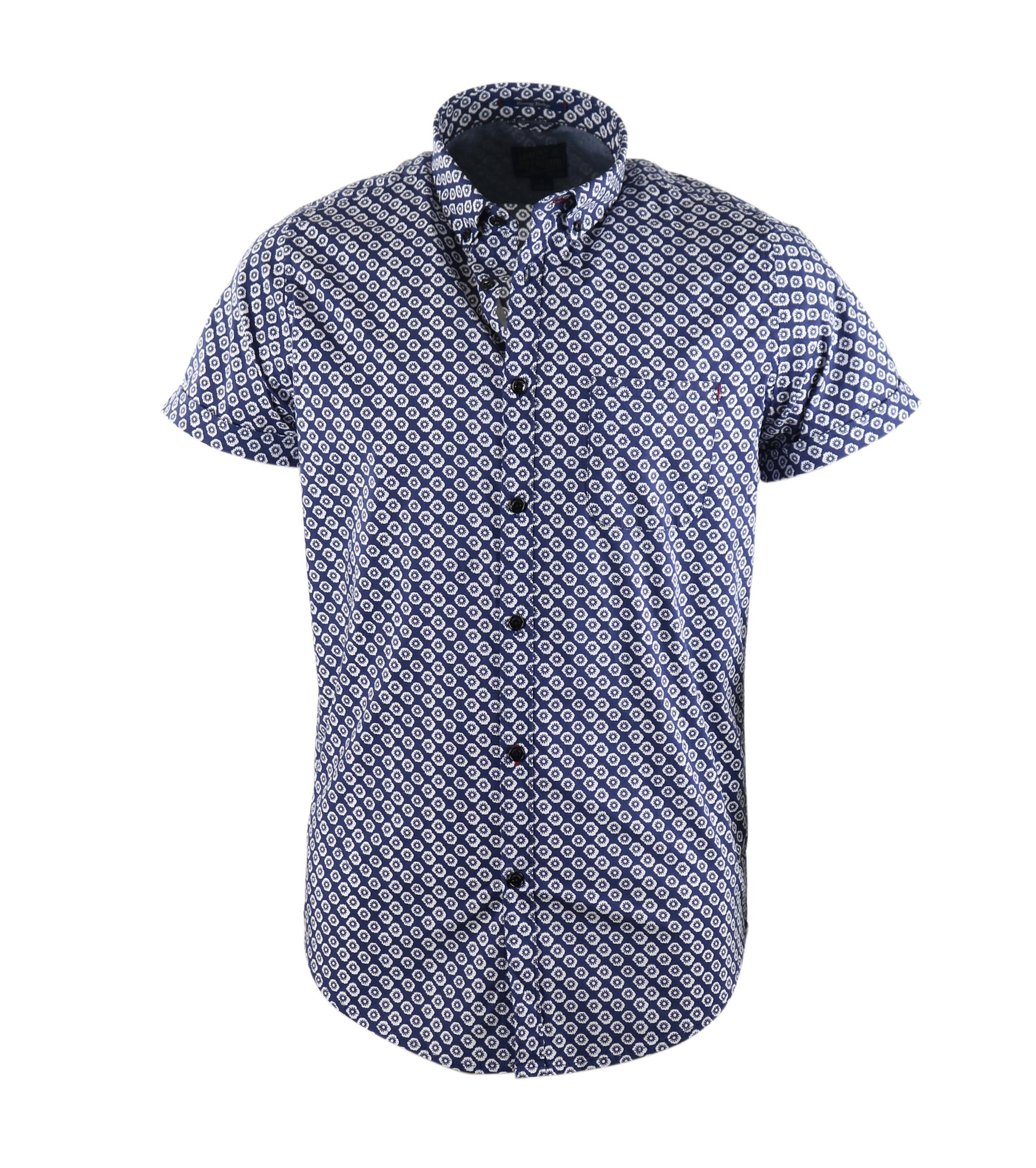 Dstrezzed Shirt Korte Mouw Blauw foto 0