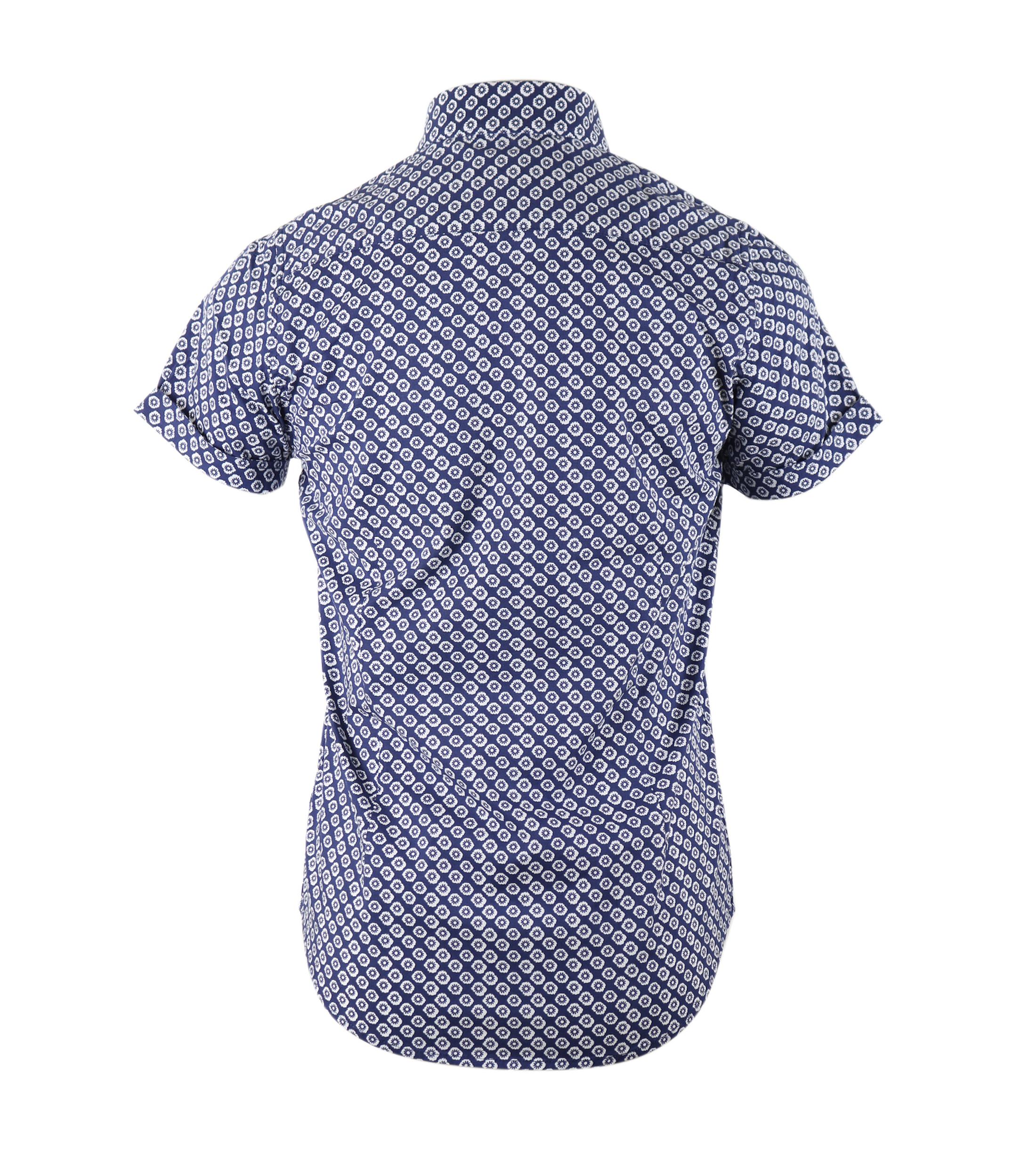 Dstrezzed Shirt Korte Mouw Blauw foto 1