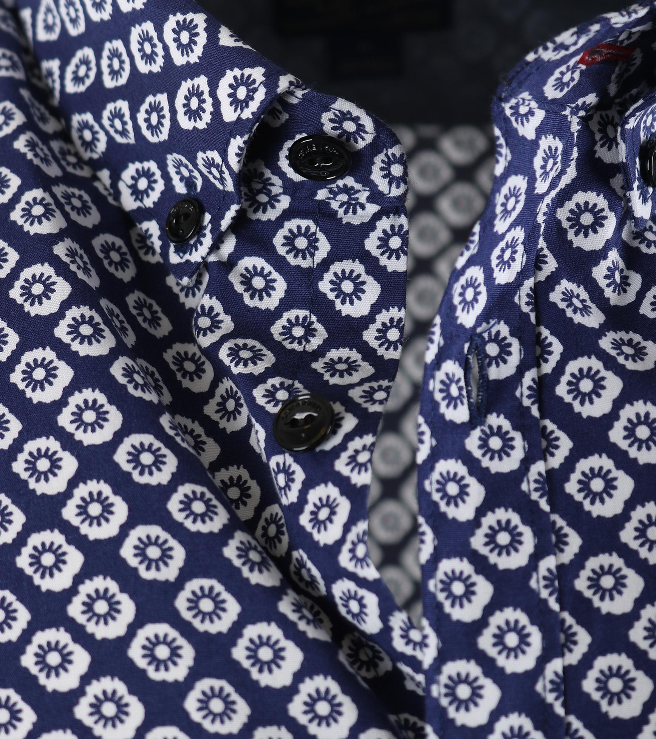 Dstrezzed Shirt Korte Mouw Blauw foto 2