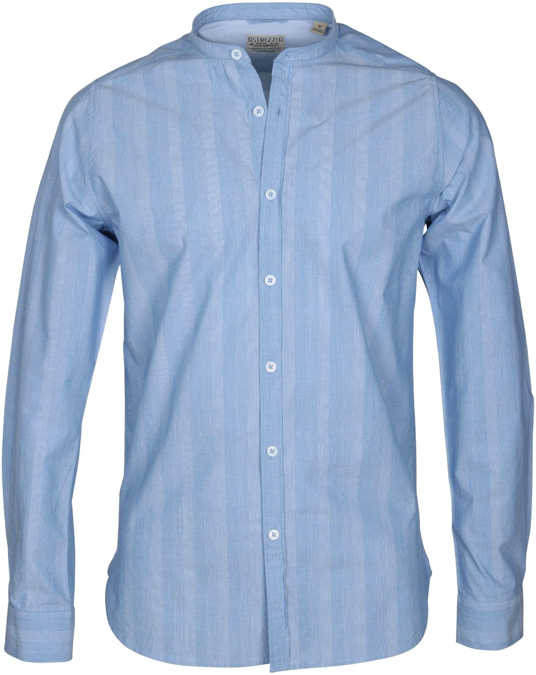 Dstrezzed Shirt Mao Streep Blauw foto 0