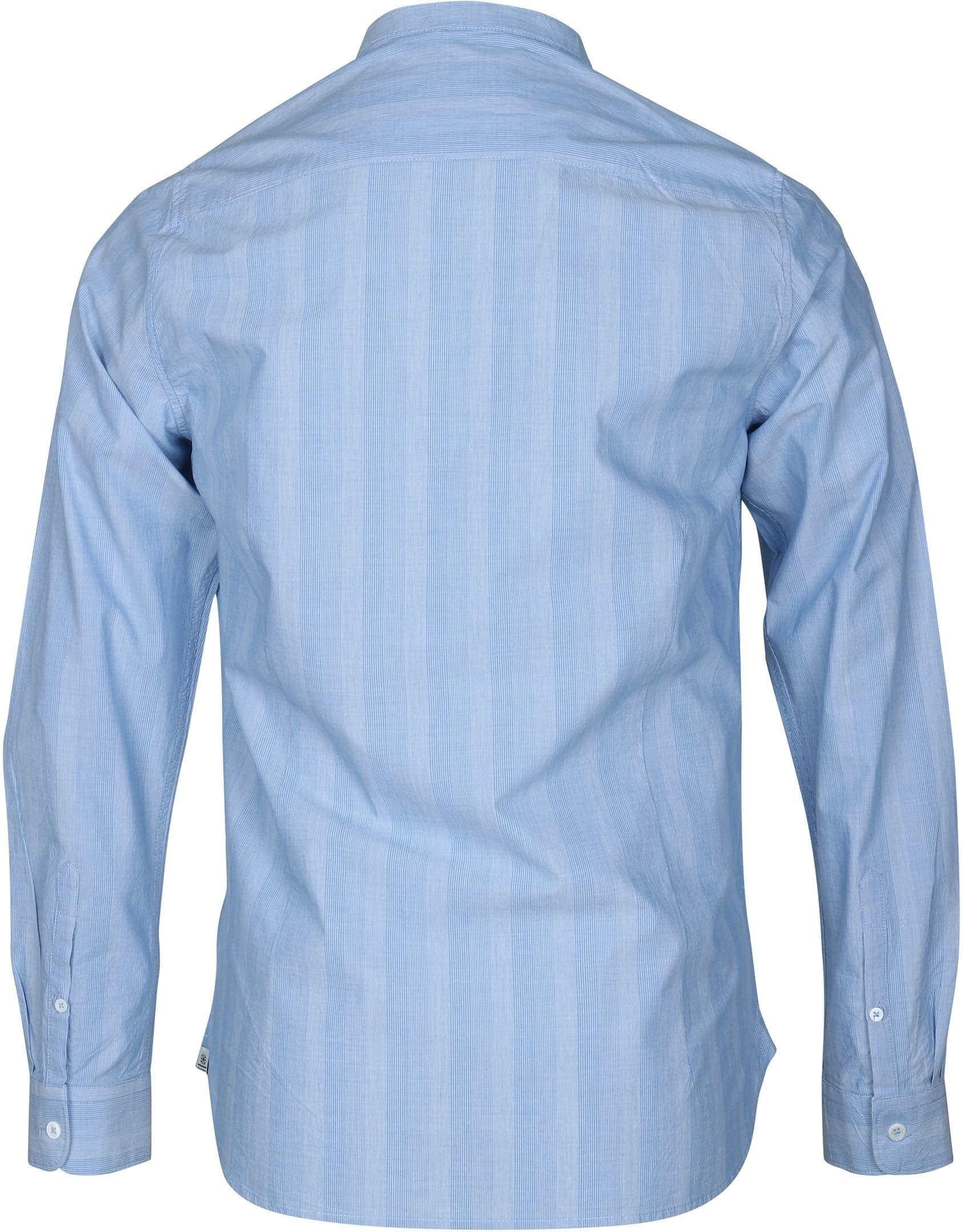 Dstrezzed Shirt Mao Streep Blauw foto 2