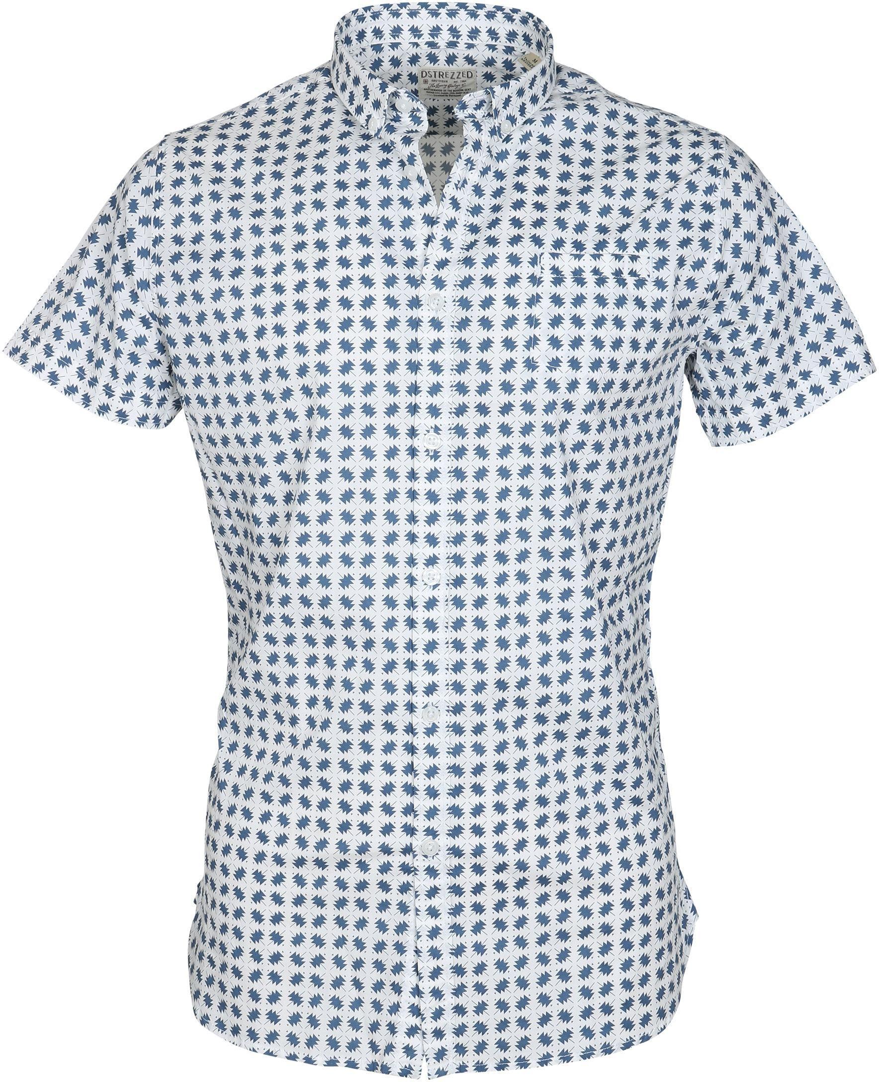 DStrezzed SS Overhemd Blauw Dessin foto 0