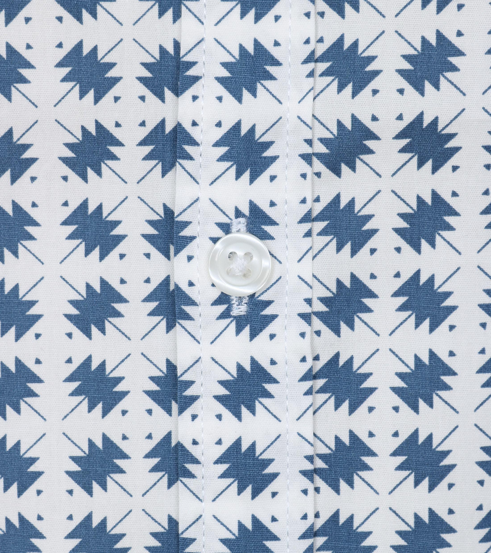 DStrezzed SS Overhemd Blauw Dessin foto 1