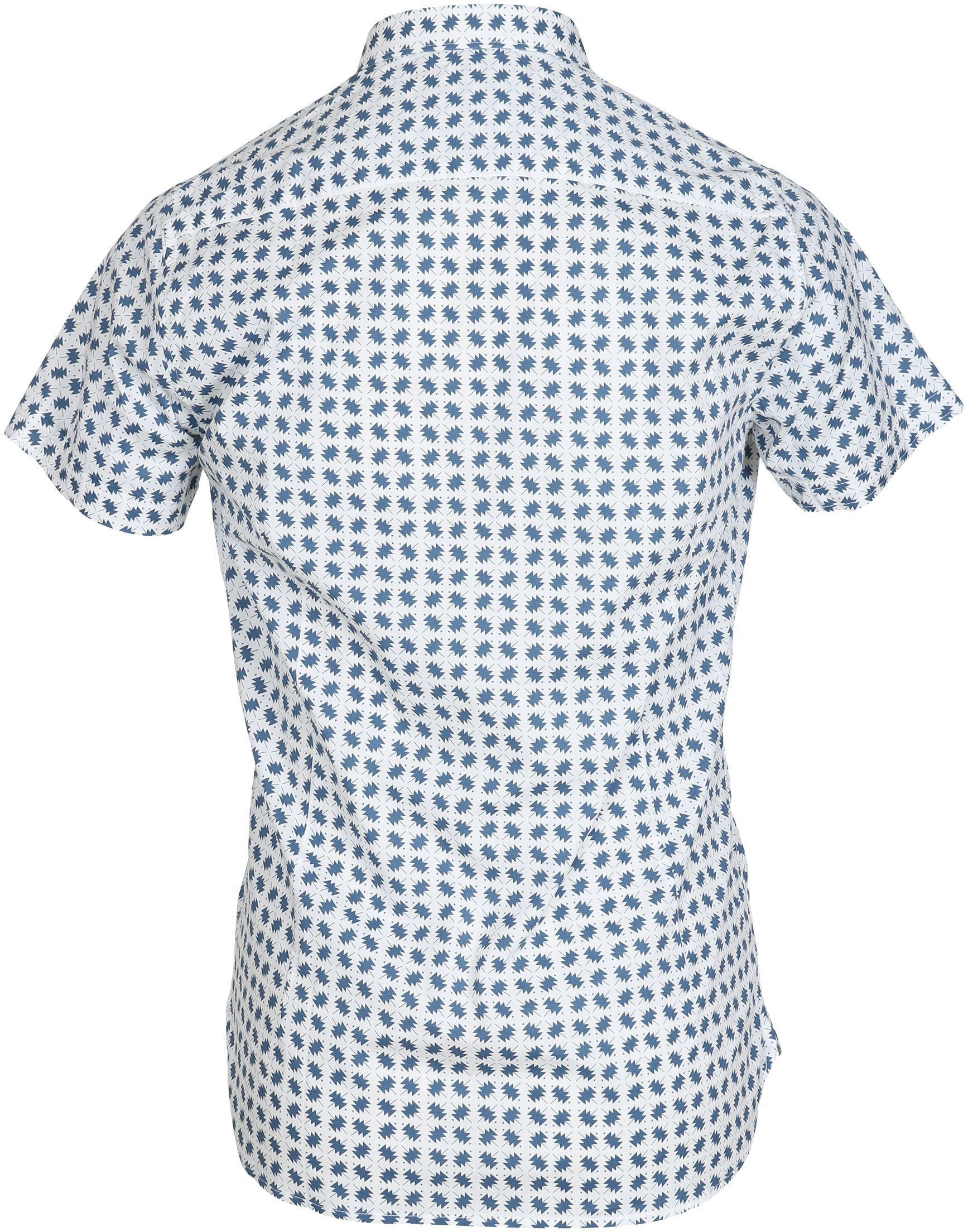 DStrezzed SS Overhemd Blauw Dessin foto 2