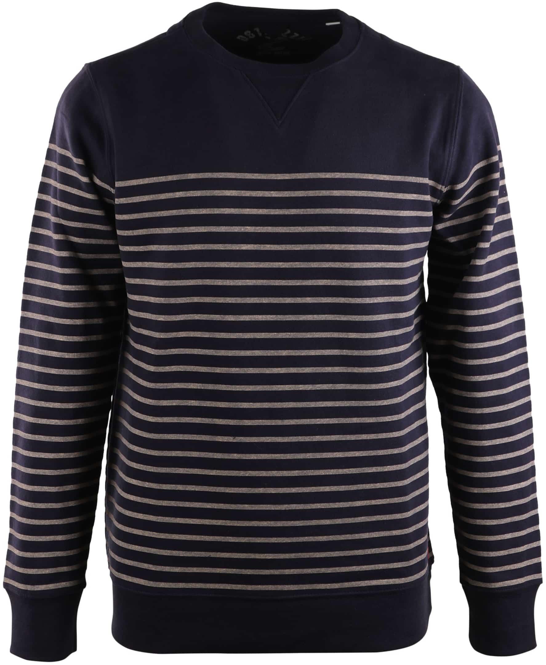 Dstrezzed Sweater Donkerblauw Streep foto 0