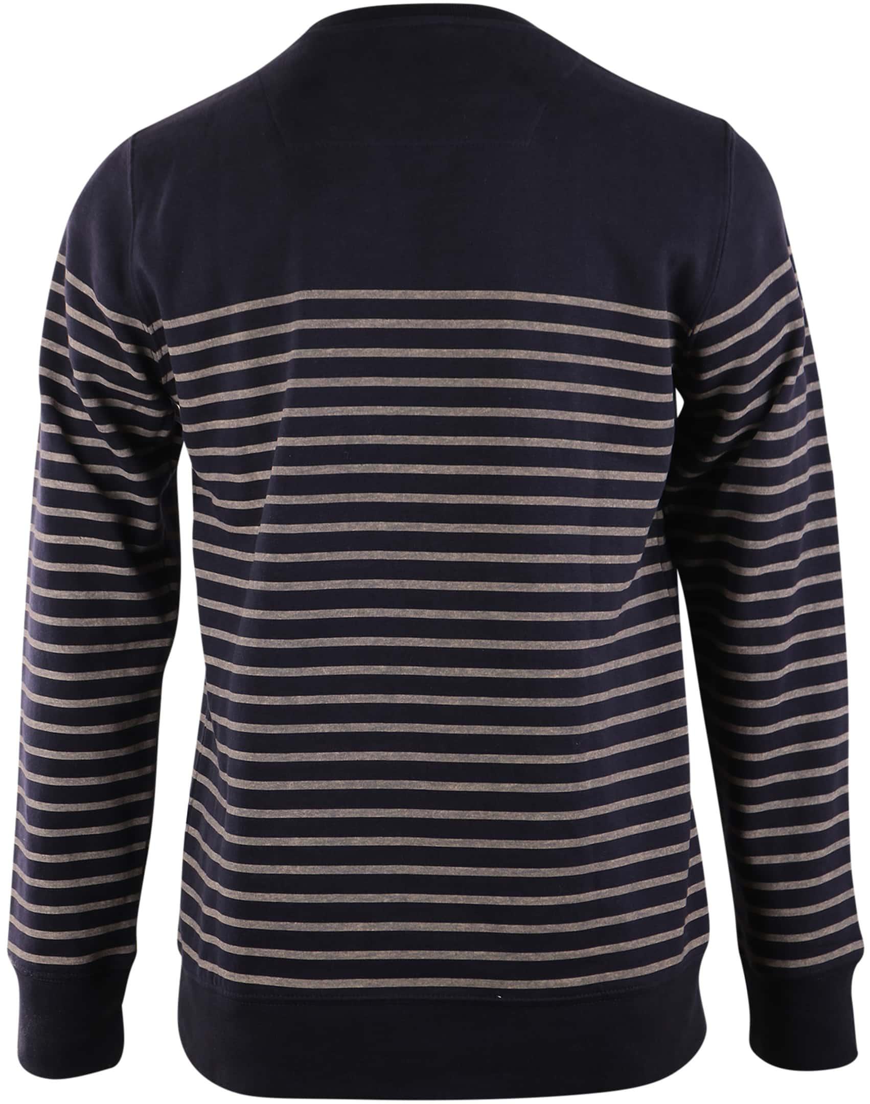 Dstrezzed Sweater Donkerblauw Streep foto 1