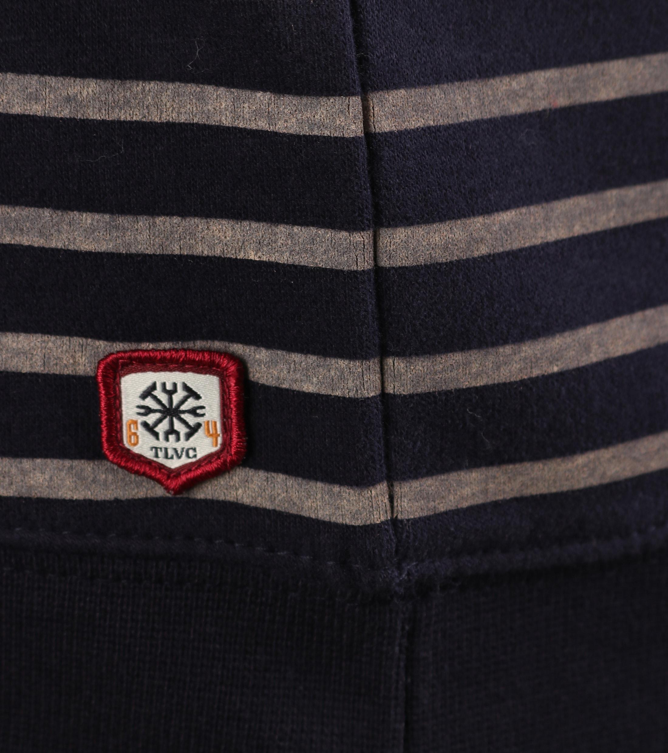 Dstrezzed Sweater Donkerblauw Streep foto 2