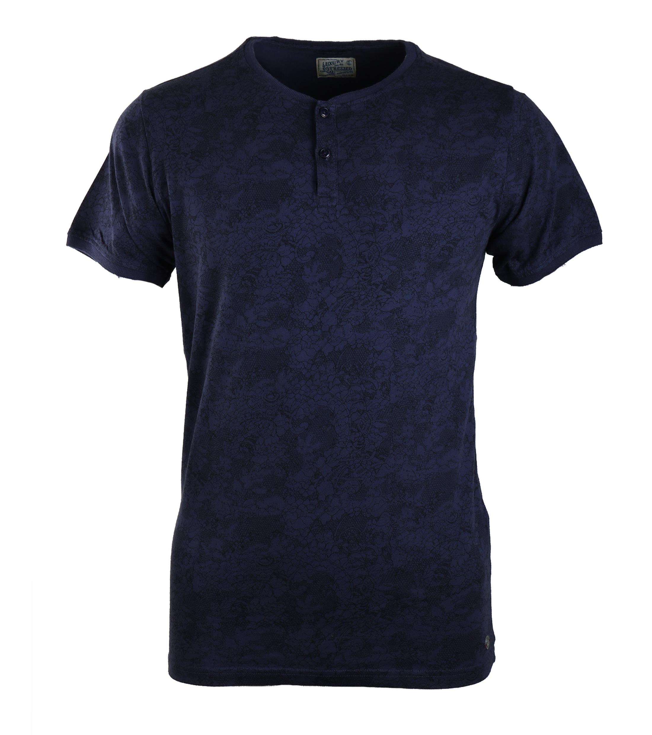 Dstrezzed T-shirt Donkerblauw Print foto 0