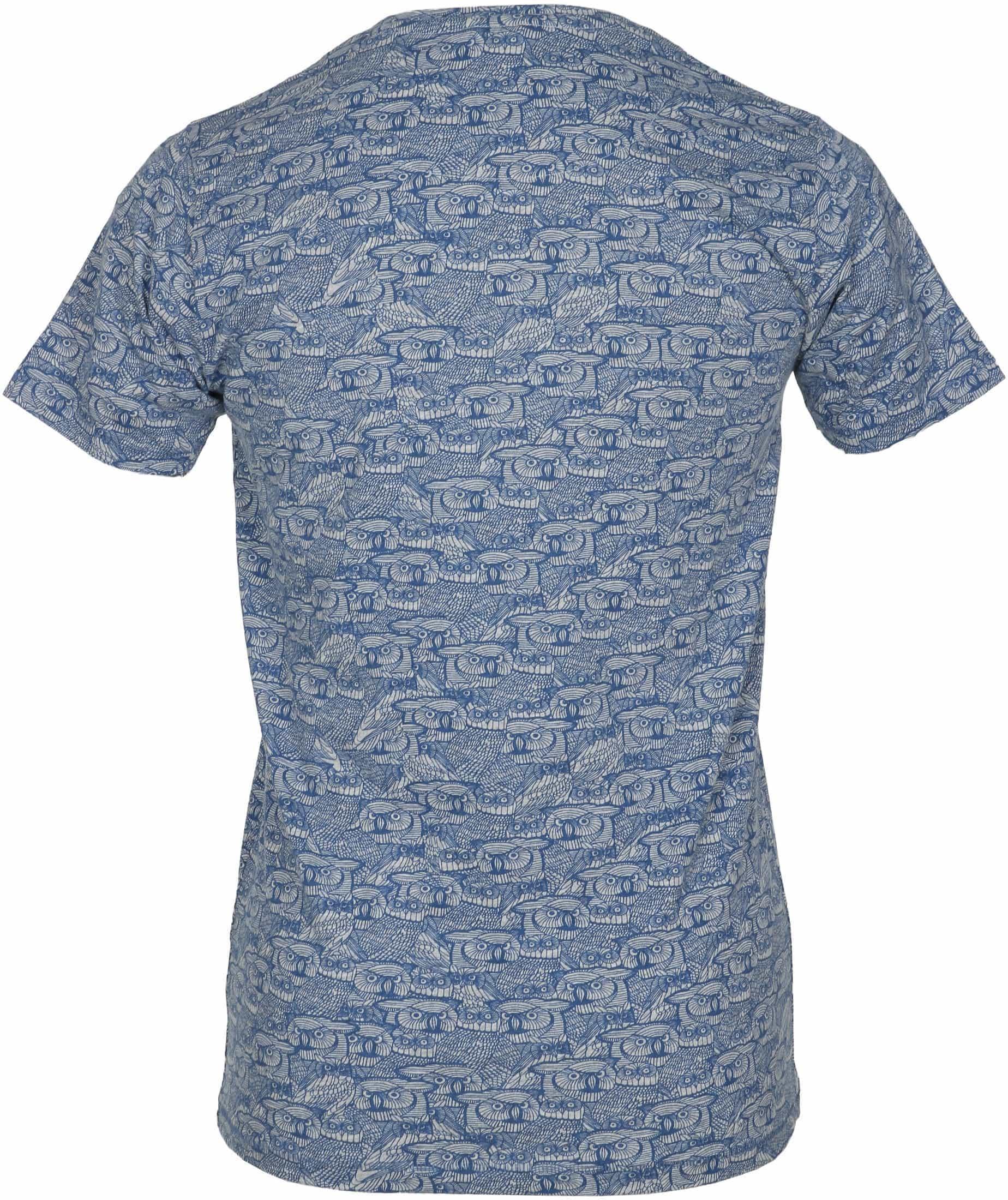 Dstrezzed T-shirt Dunkelblau Eule foto 2